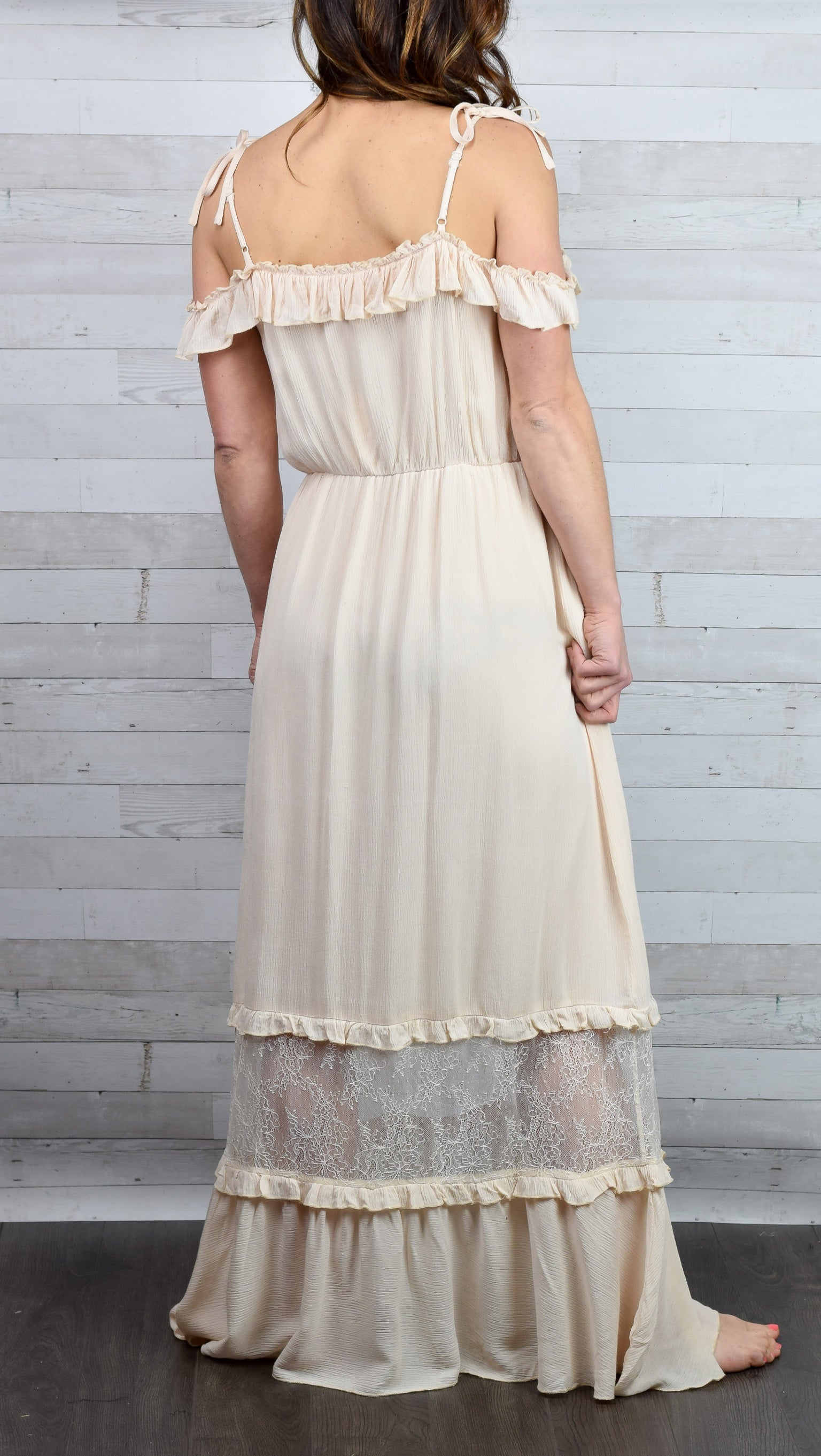 Sincerely Yours Cream Lace Dress