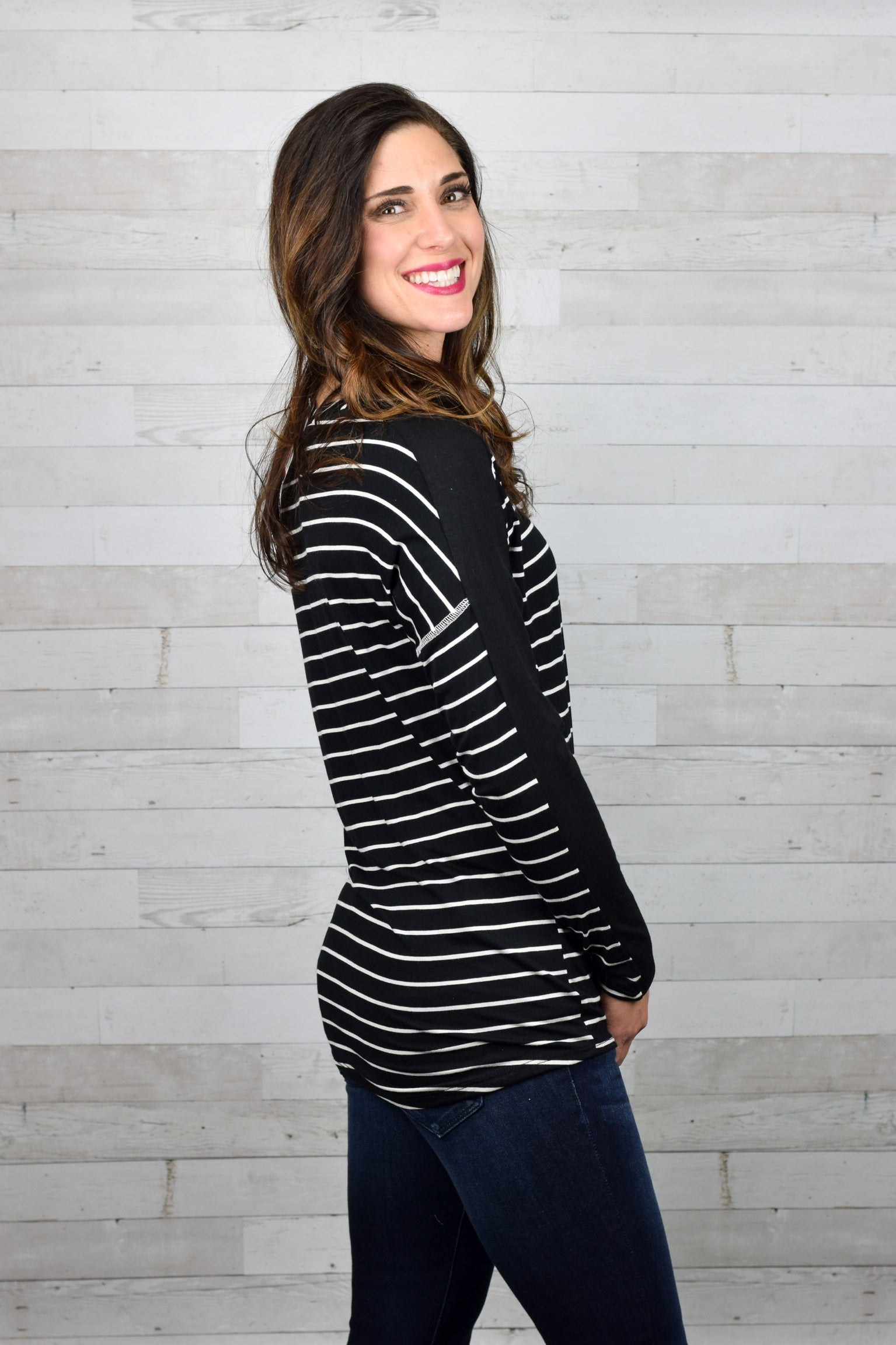 Needing Some TLC Striped Long Sleeve Top