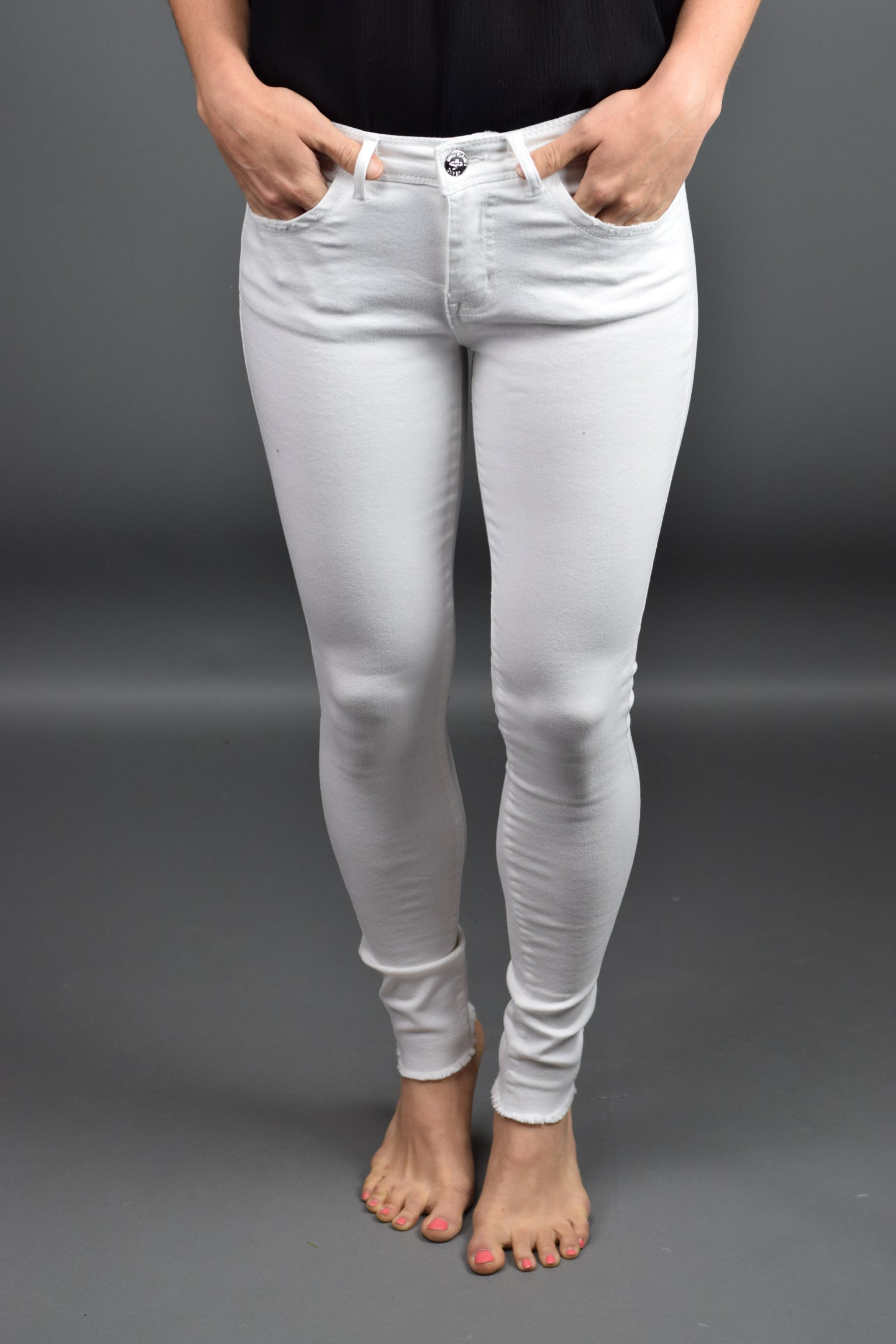 Intensity White Skinny Denim