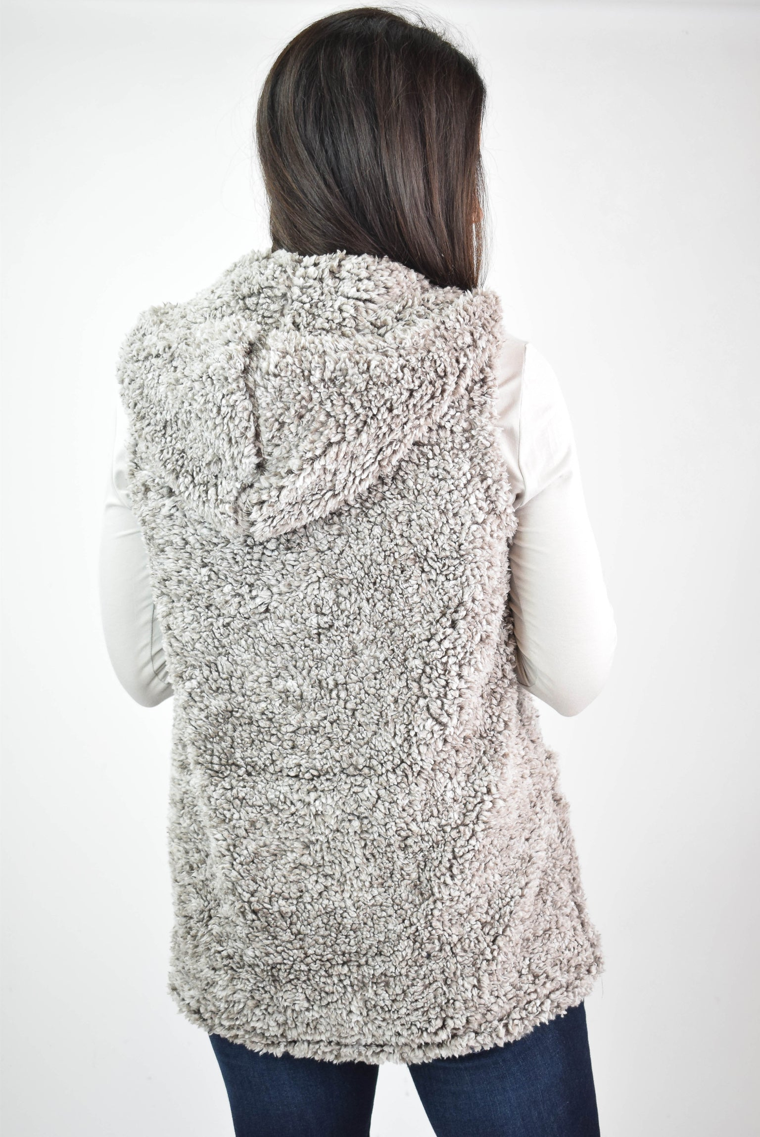 Pure Perfection Sherpa Vest - Chocolate