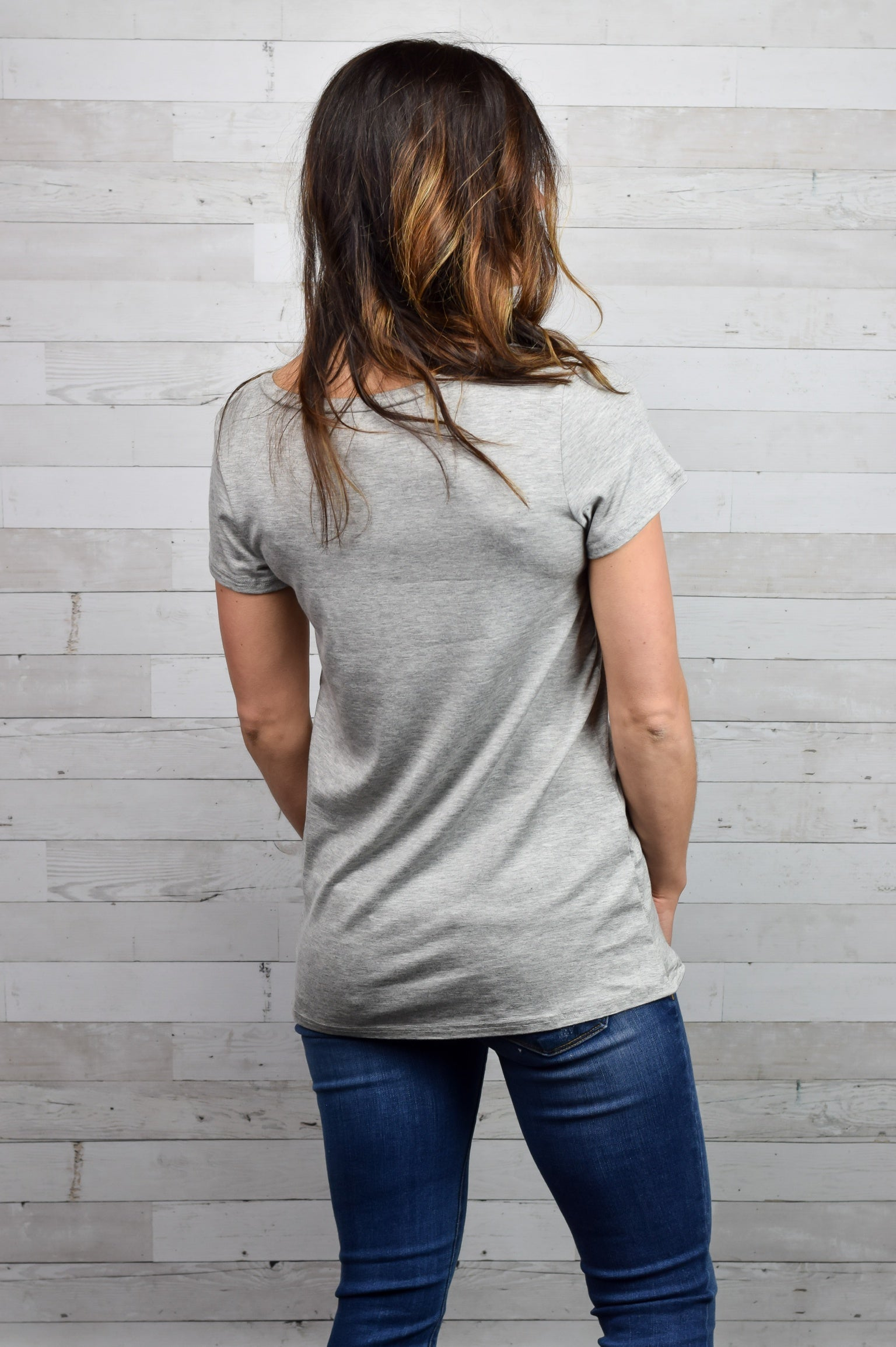 Nothing But Independent Tee- Heather Grey