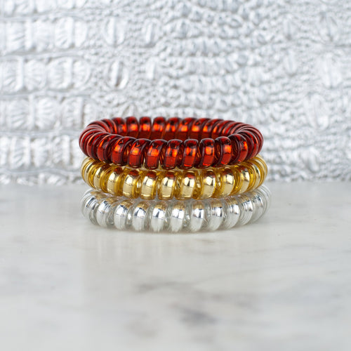 Fire & Gold Hotline Hair Tie Set