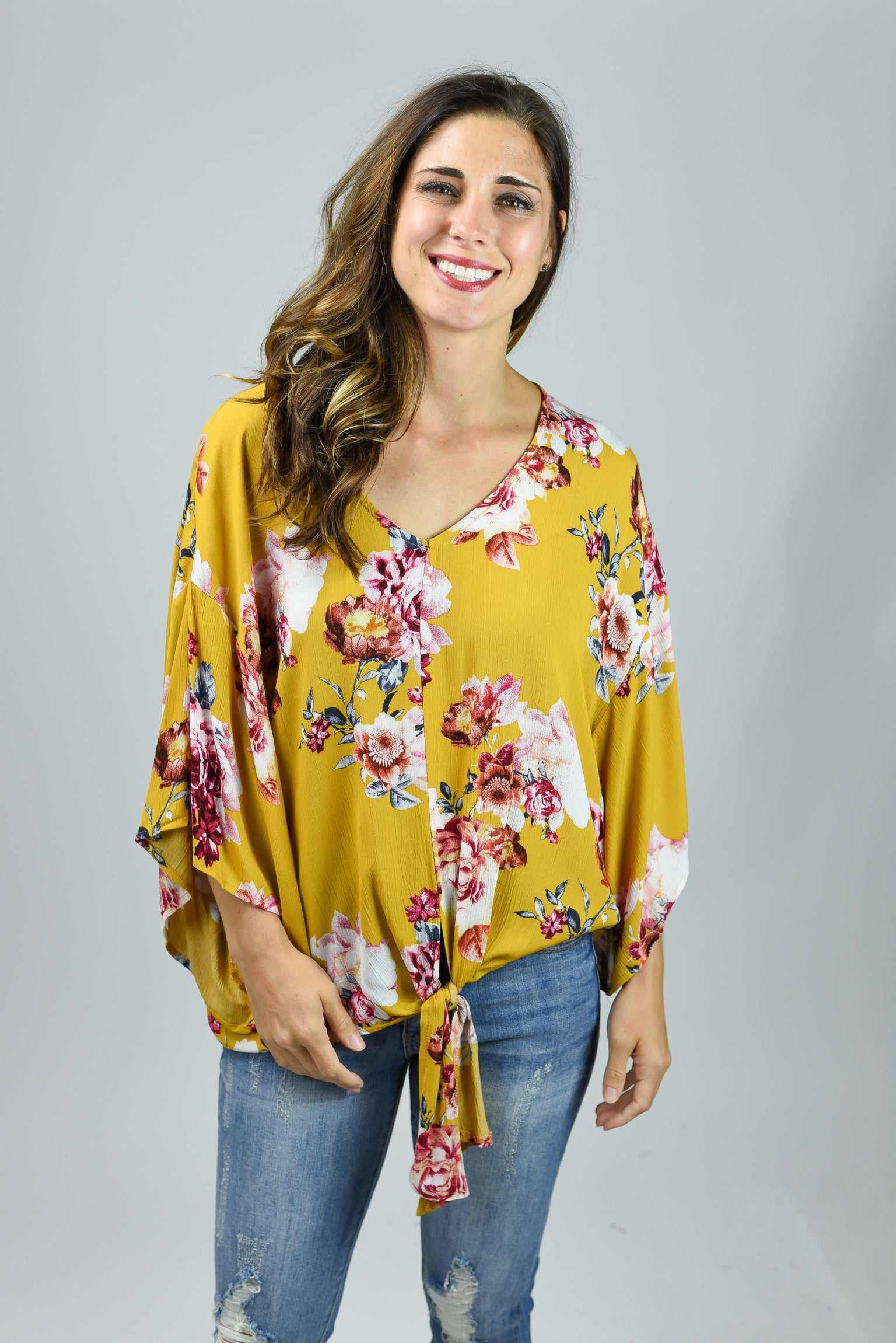 In The Meadow Mustard Floral Top
