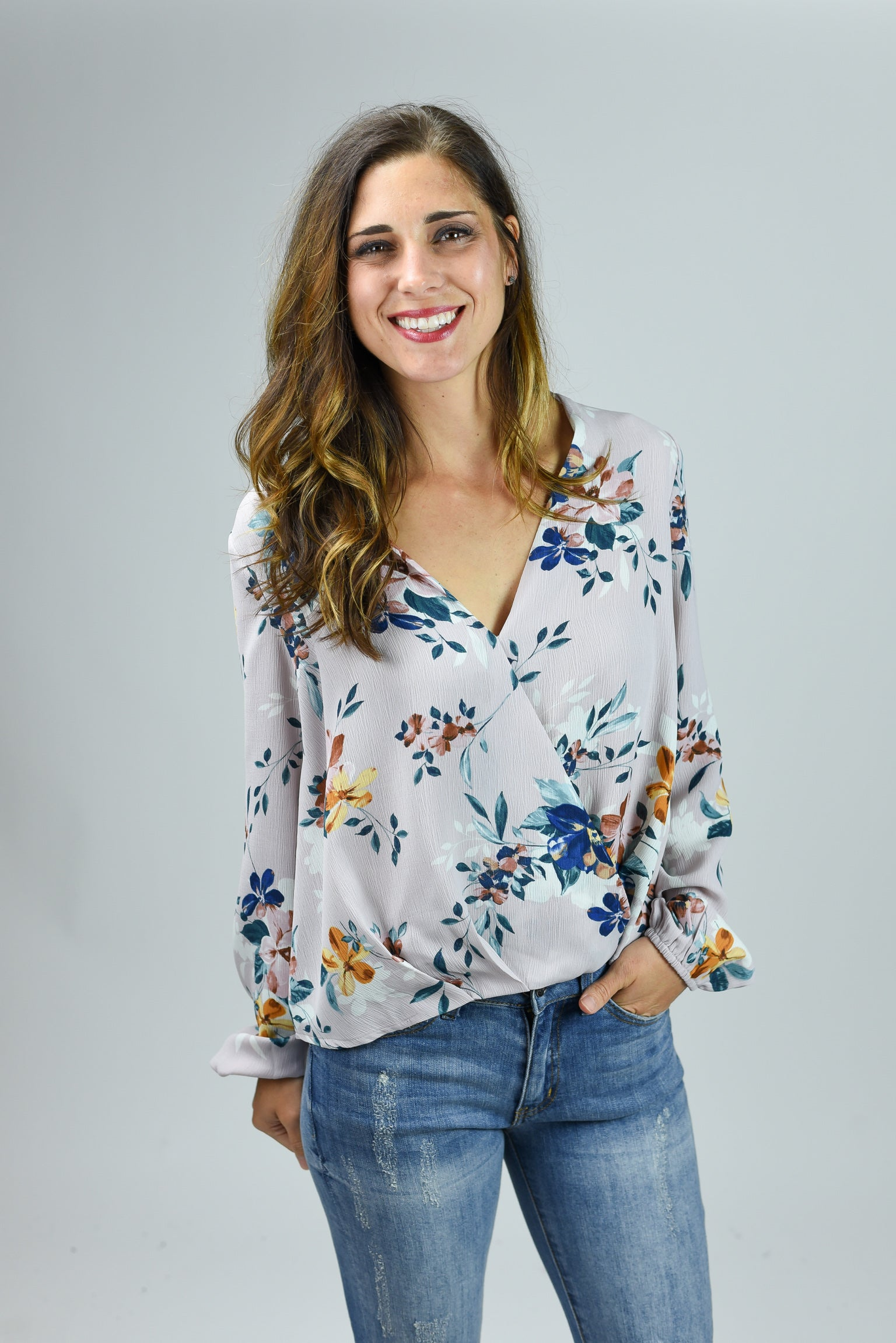 Day Dreaming Lavender Floral Drape Top
