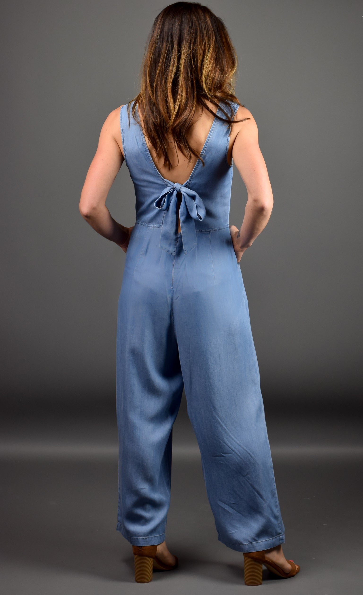 Building Momentum Chambray Jumpsuit