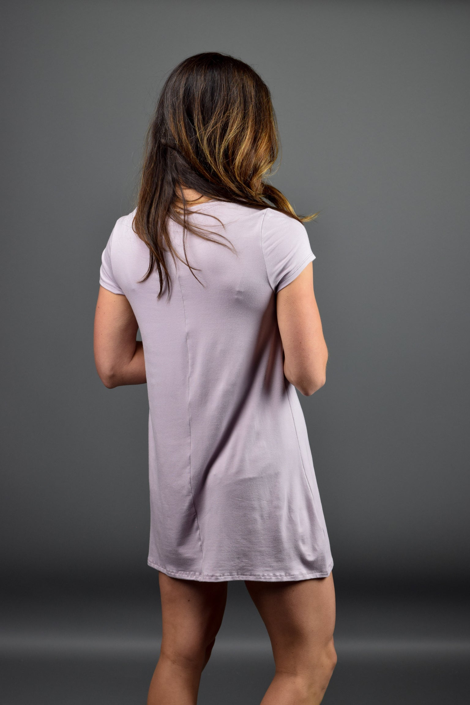 Have It All Basic TShirt Dress- Lavender