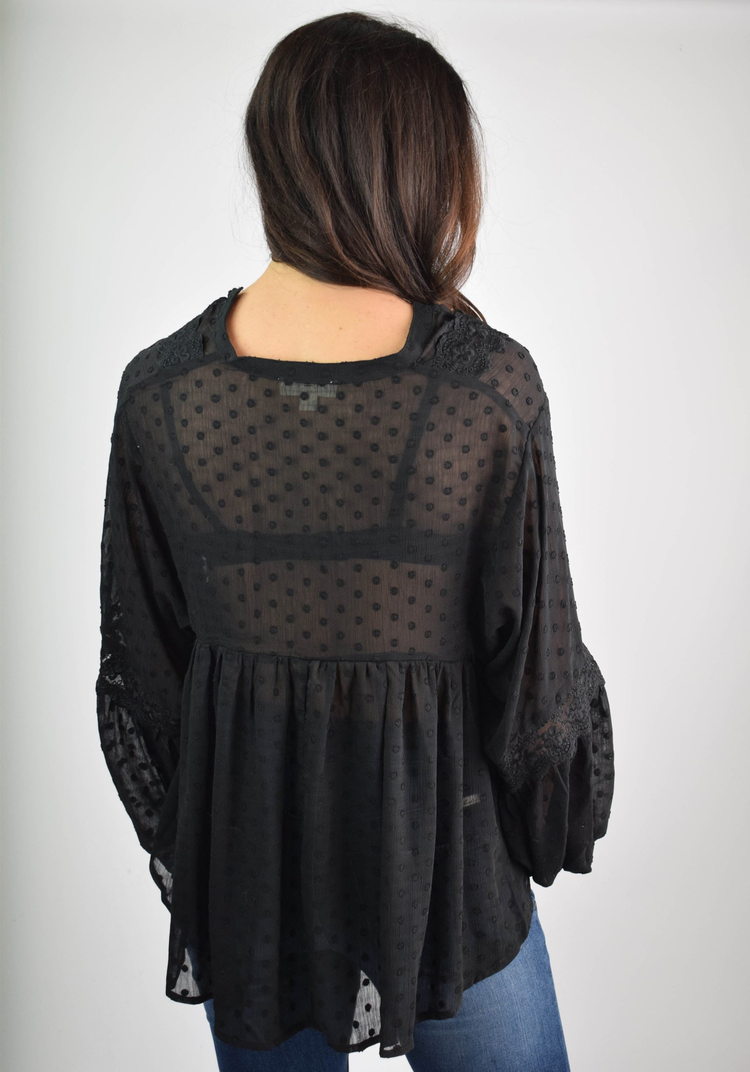 Worth Waiting For Black Sheer Blouse