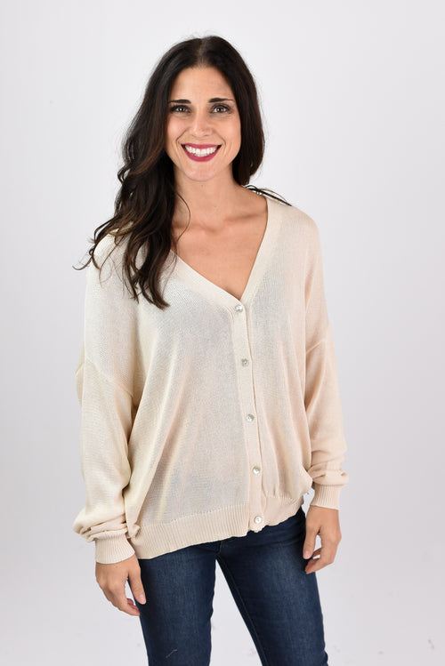 It's All Natural Cream Button Up Cardigan