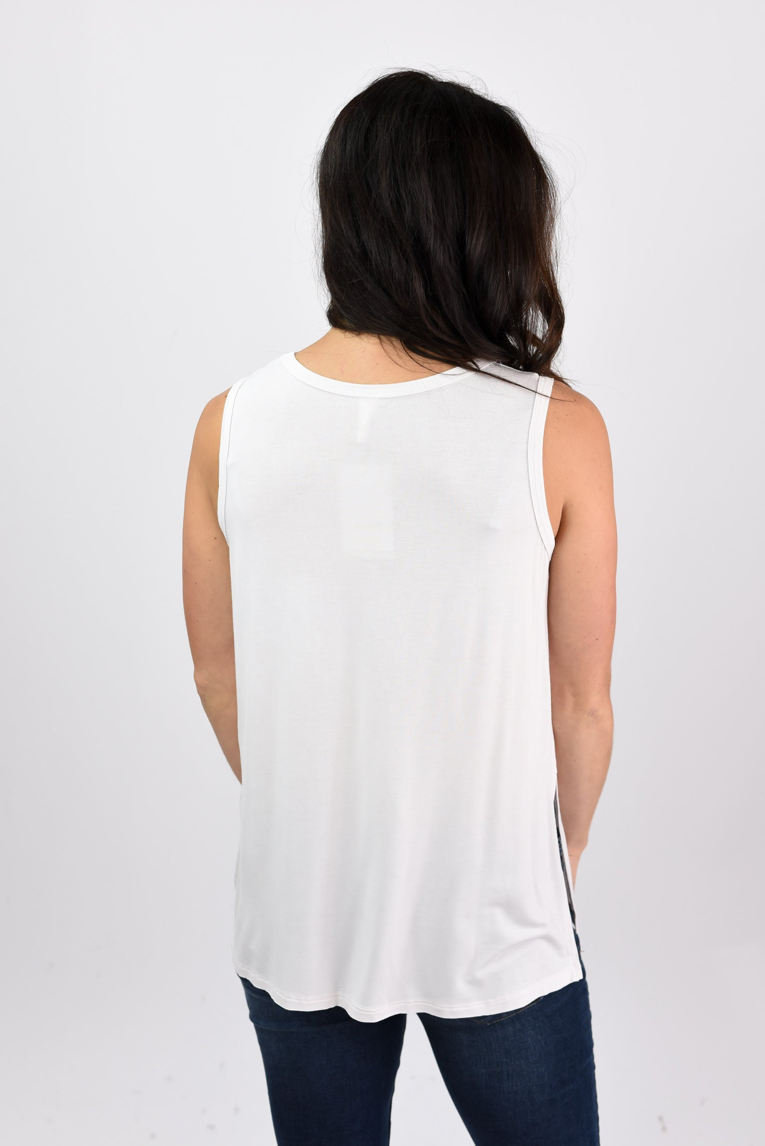 Local Hideaway Boatneck Pocket Tank - Ivory