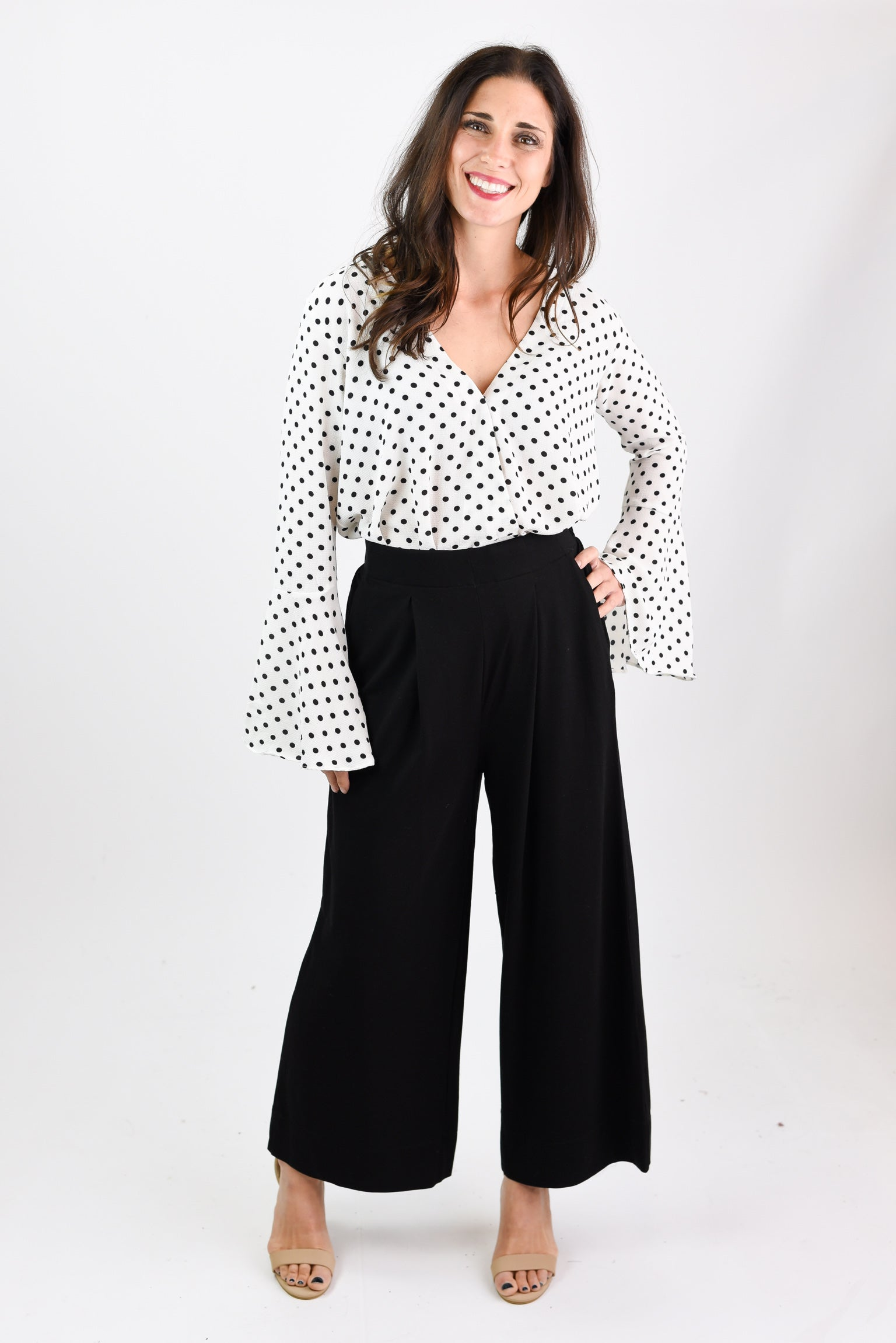 Do Good By You Black Wide Leg Trouser