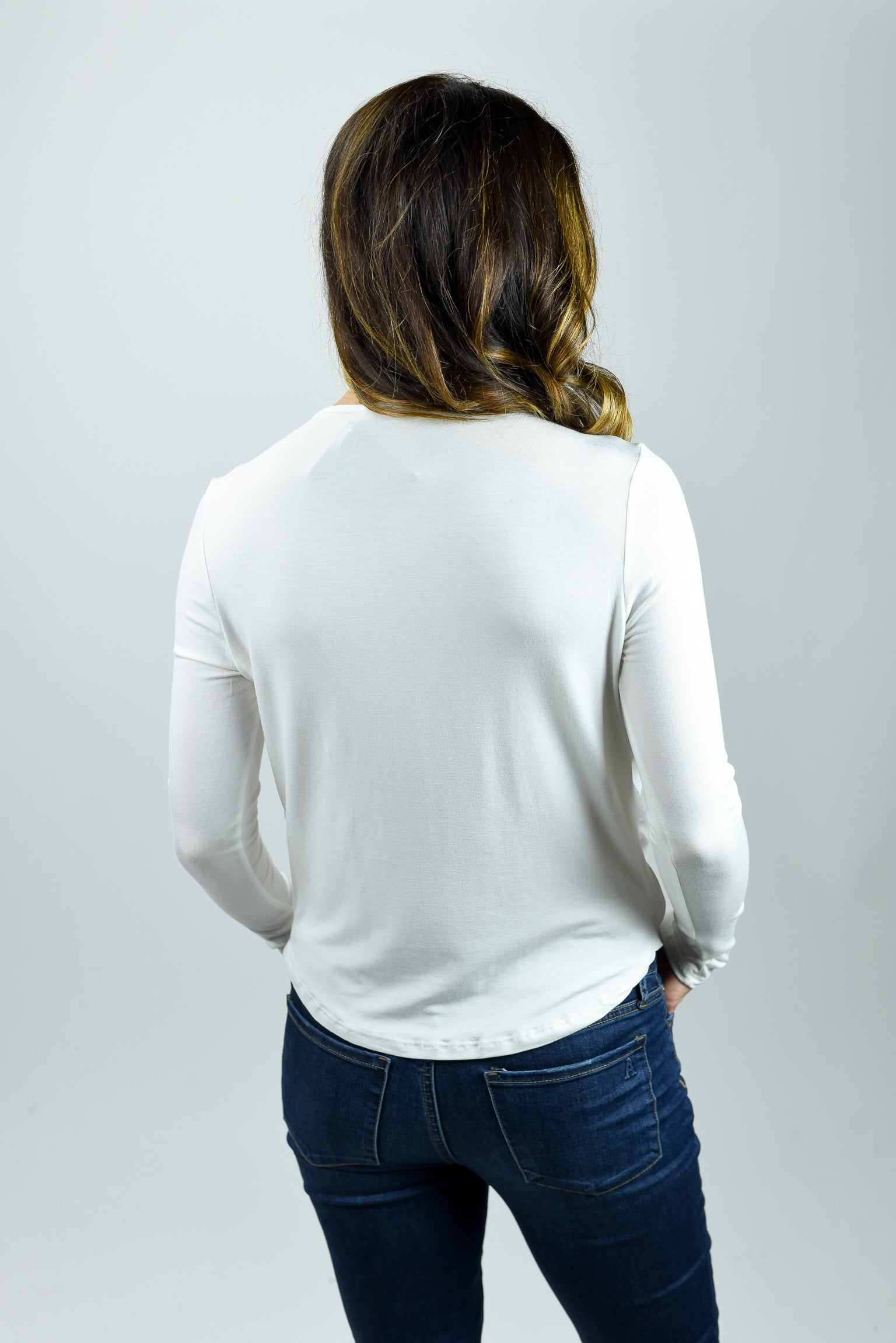 The Distance Between Us White Long Sleeve Top