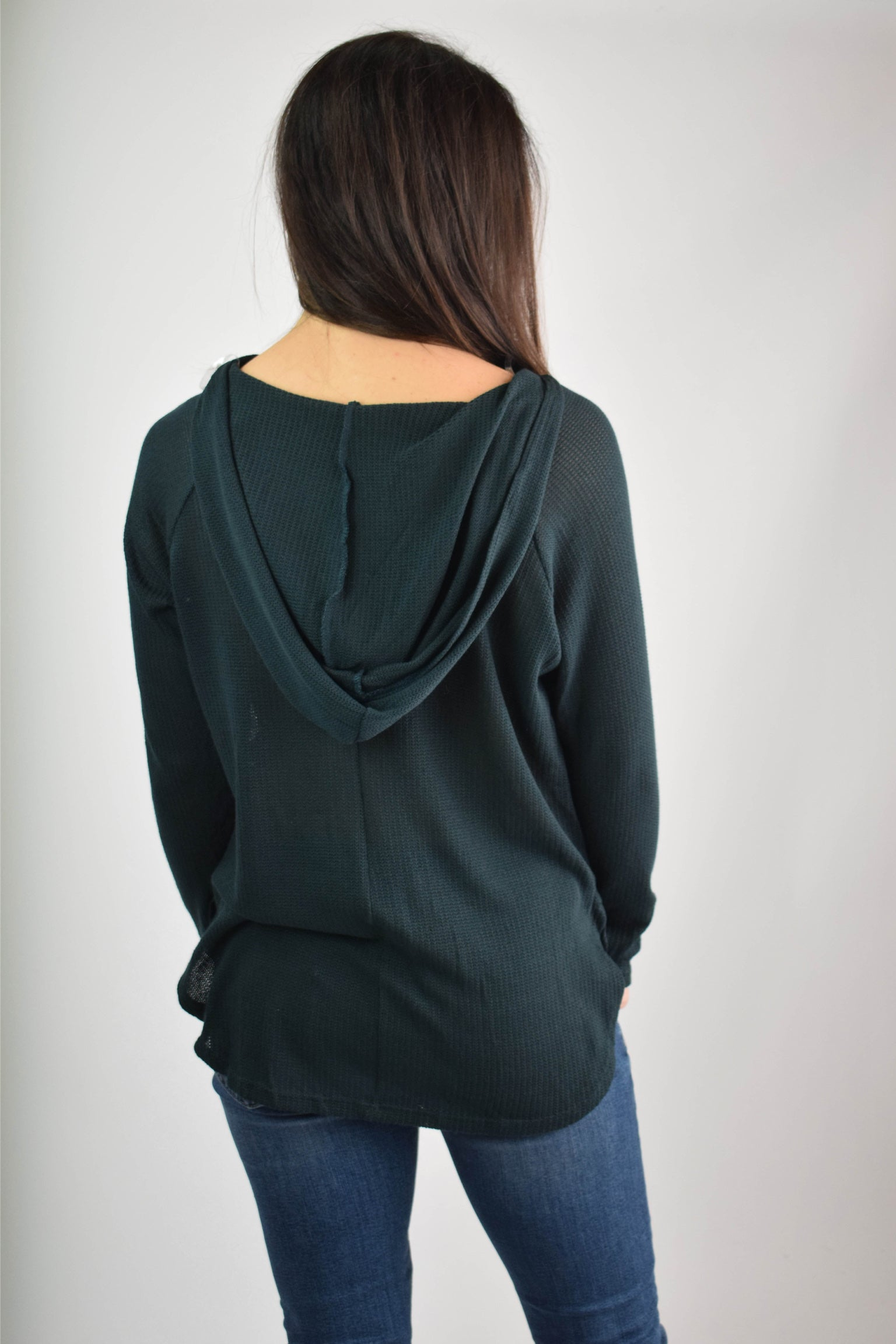 Sweetest Season Teal Lightweight Hoodie