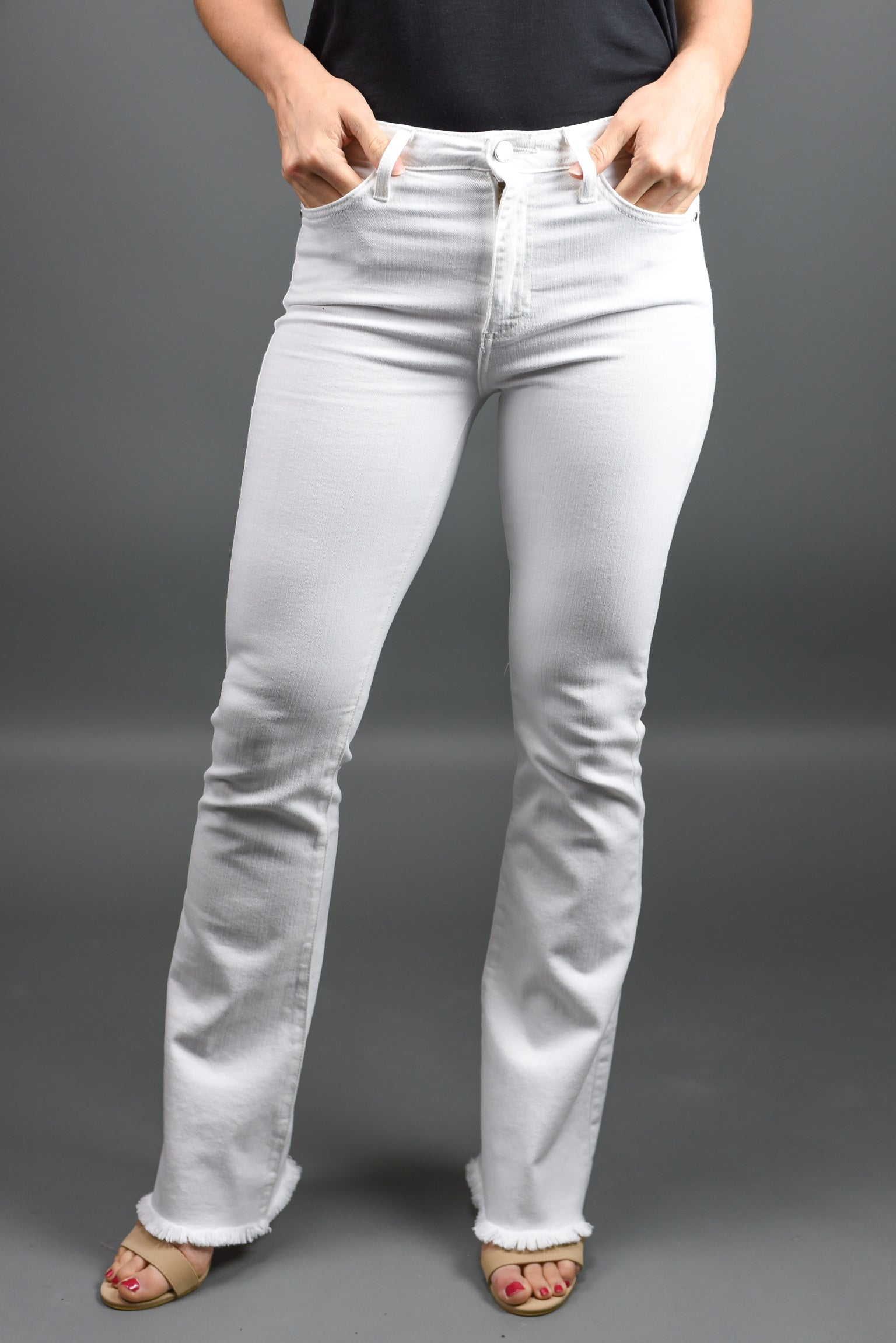 Natural Sugar Sweet White Flare Denim