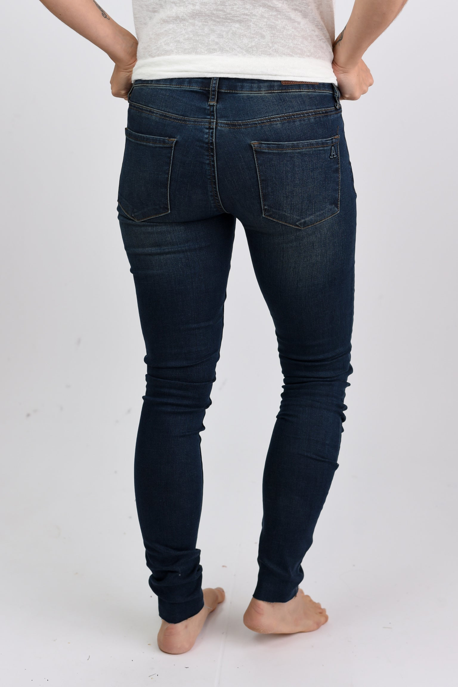 Make No Apologies Open Hem Skinny Jeans