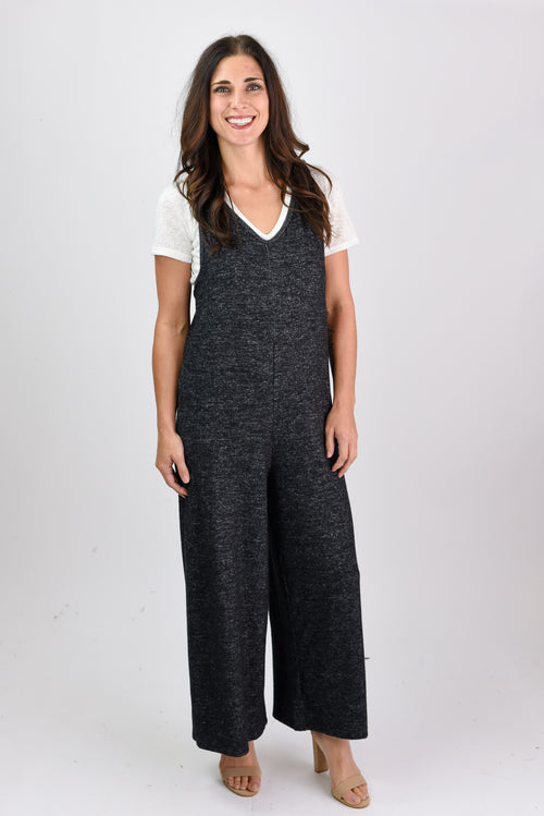Movie Night Heather Black Jumpsuit