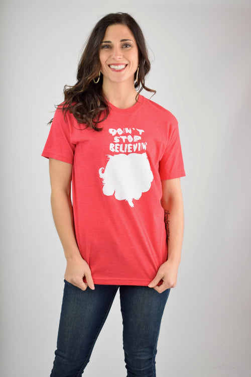 Don't Stop Believin' Graphic Holiday Tee