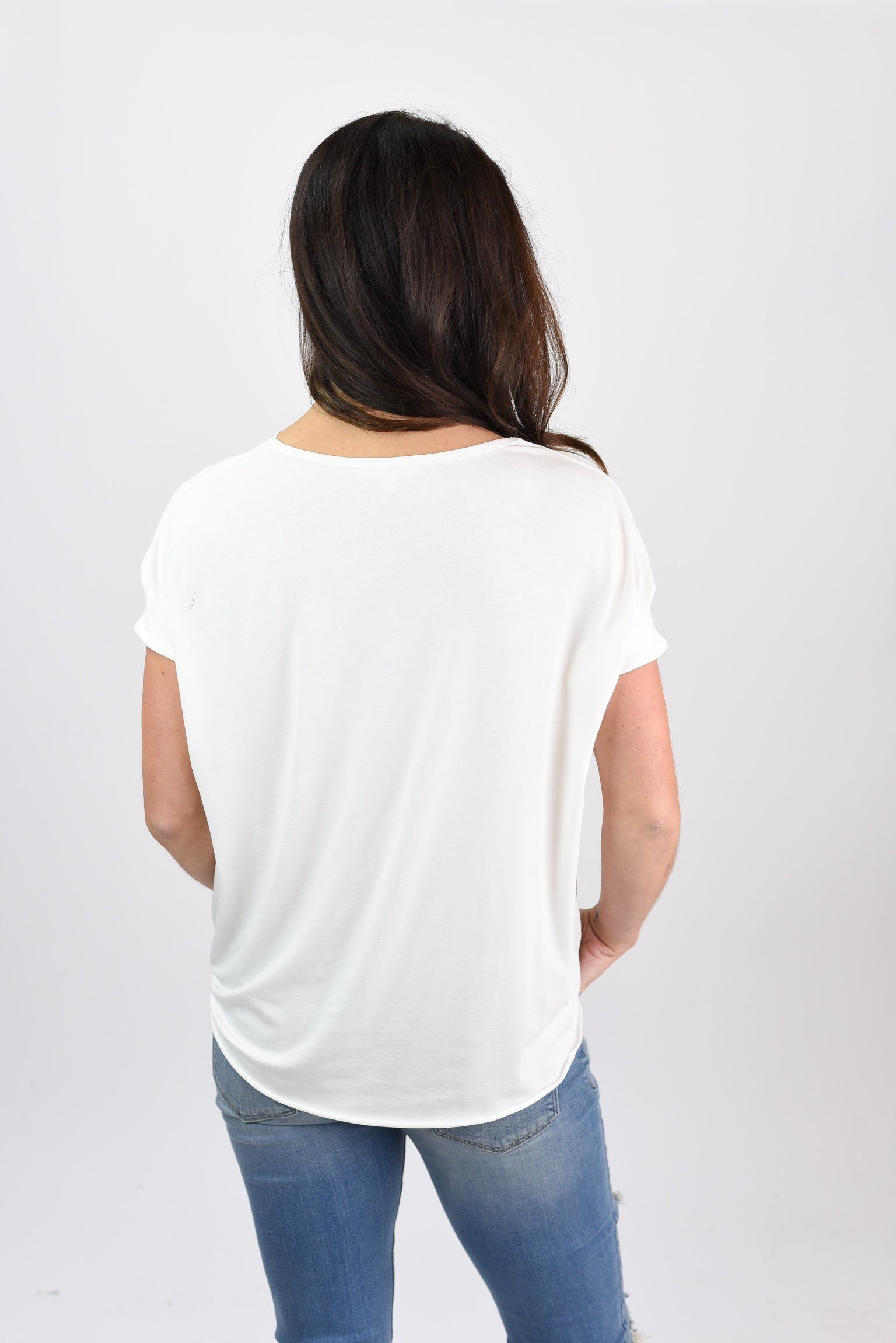 See You Tonight Ivory Wrap Tee