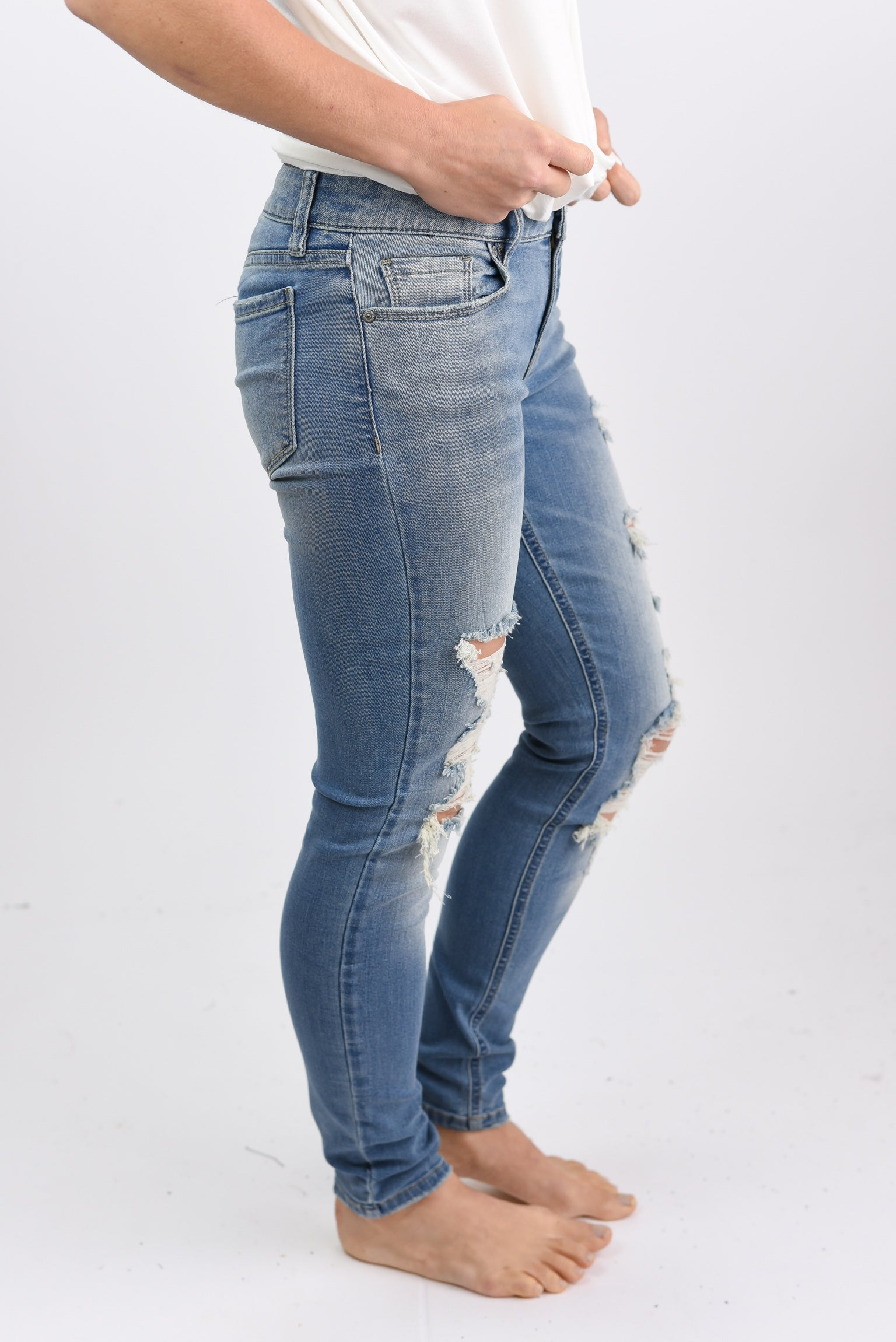 Keep Driving Low Rise Skinny Jeans