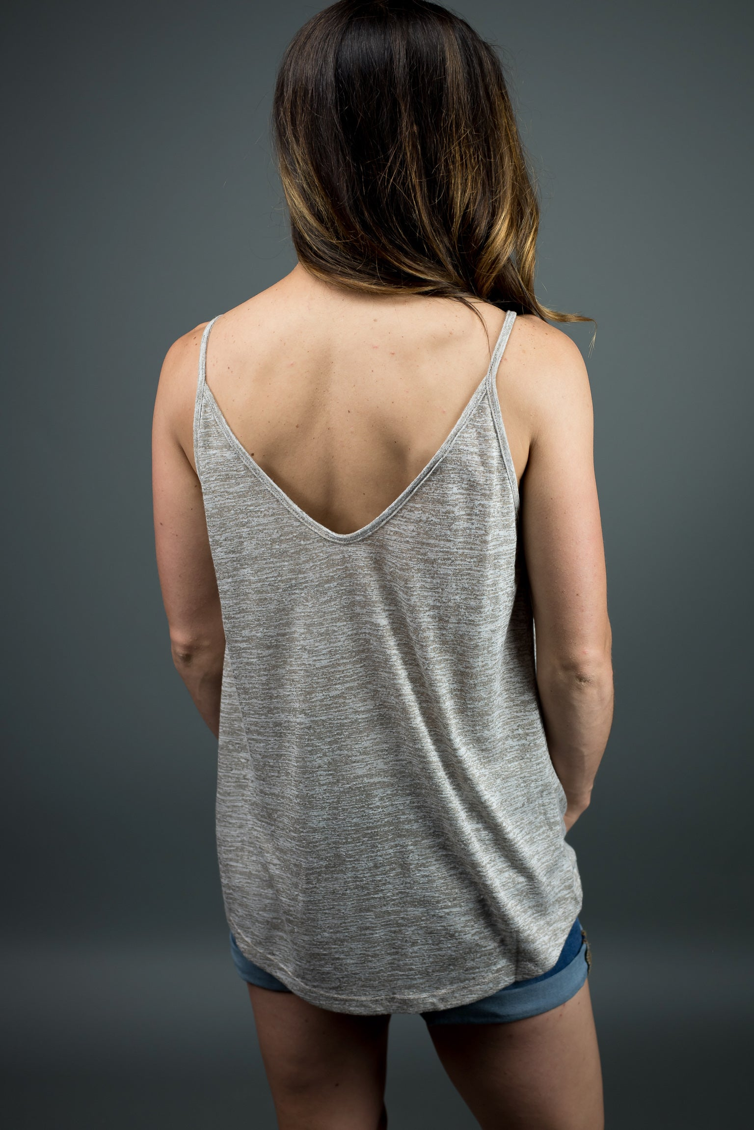Day To Day Love Mocha Front Twist Tank