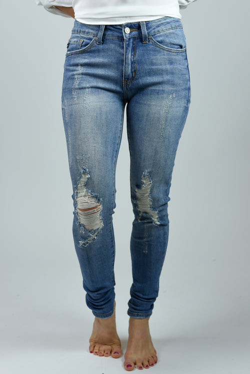 Heartbreaker Distressed Knee Skinny Jeans