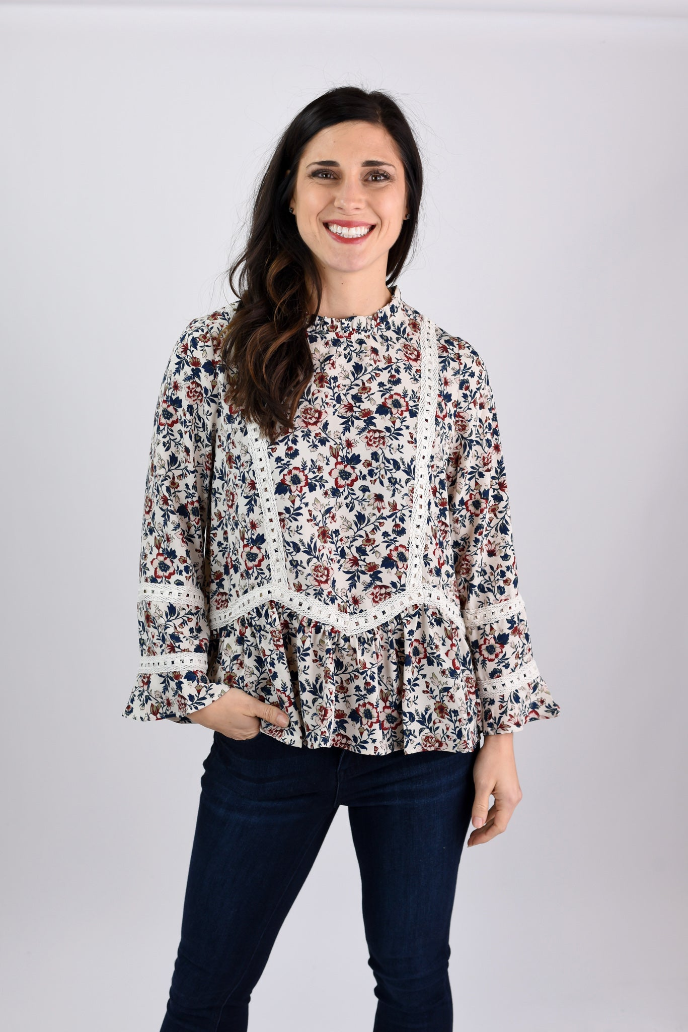 The Way Things Used To Be Ivory Floral Blouse