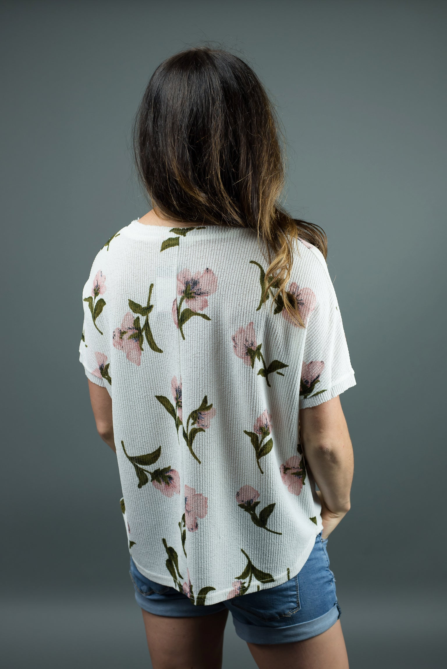 Making my Heart Bloom Floral Button Up Tee