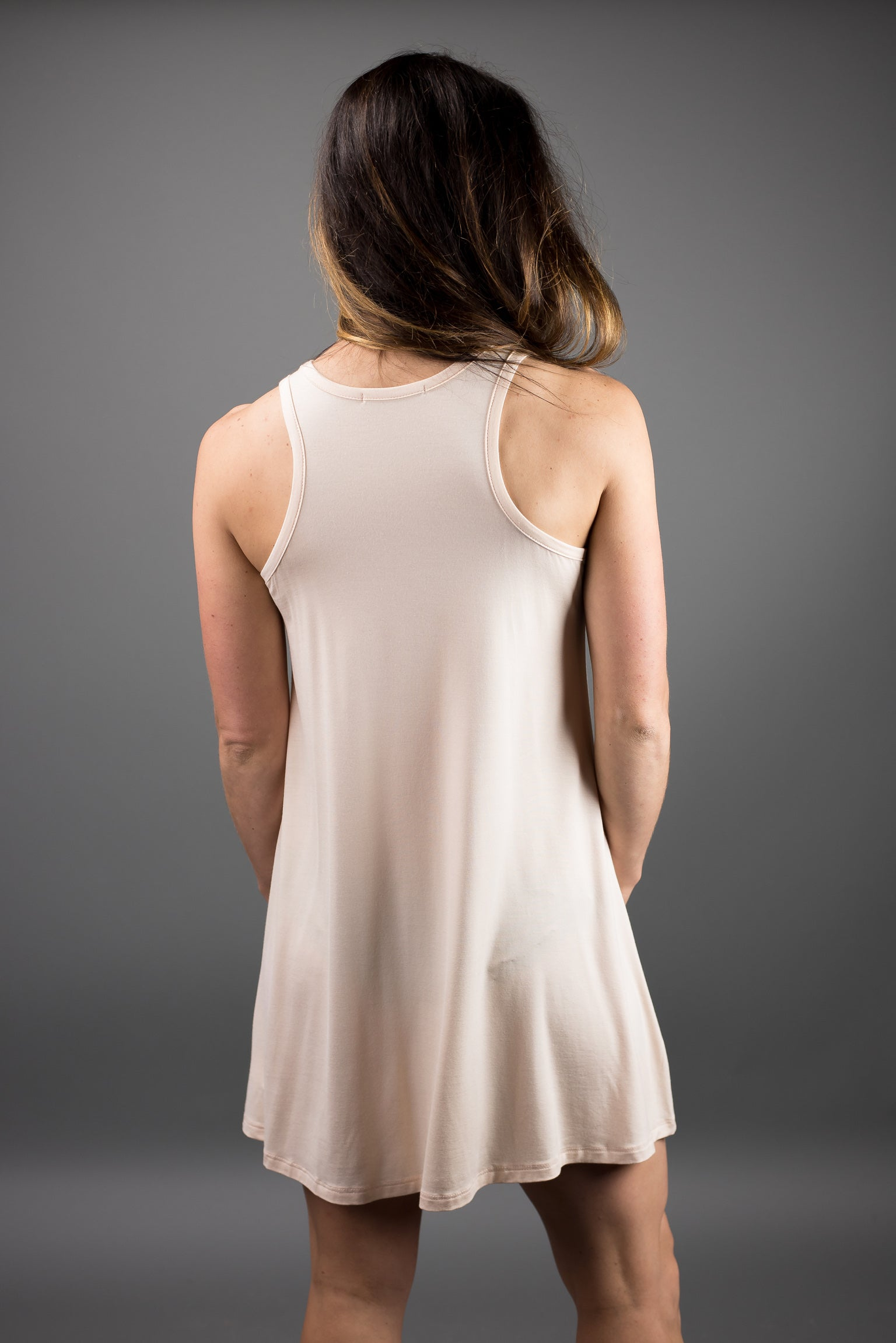 Miles From Nowhere Tank Dress- Light Peach
