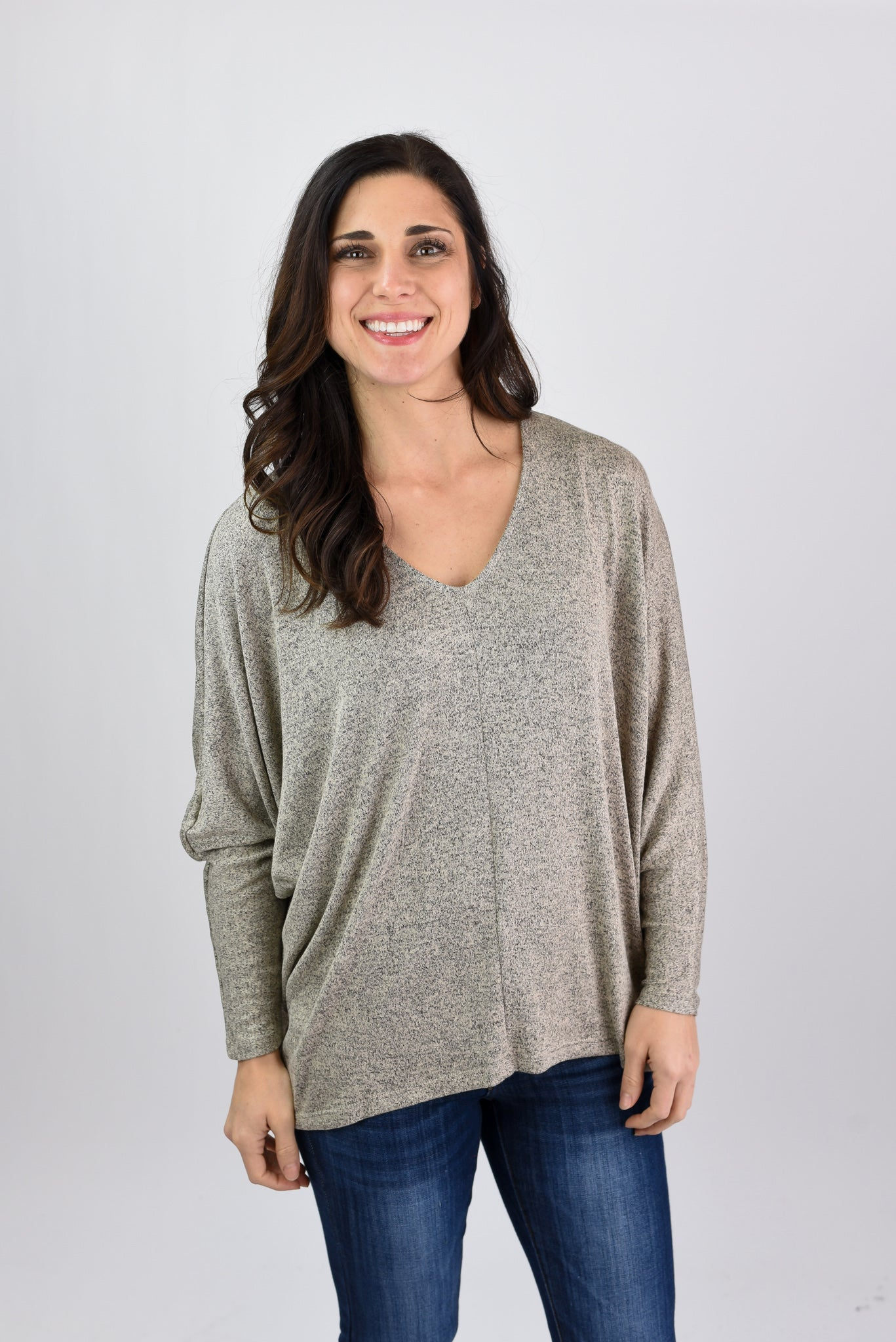 All Apart Of Me Dolman Long Sleeve Pullover - Taupe