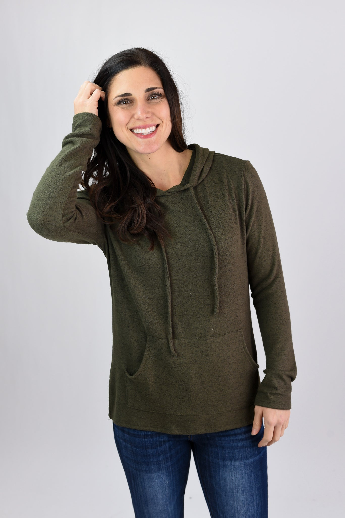 On The Take Lightweight Hoodie- Olive