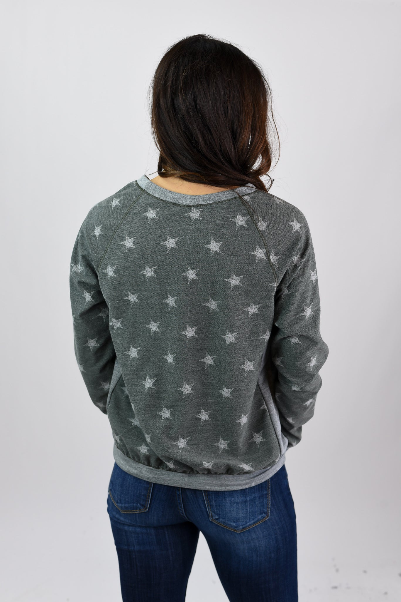 Under The Stars Long Sleeve- Army Green