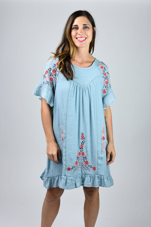 Festival Ready Embroidered Dress