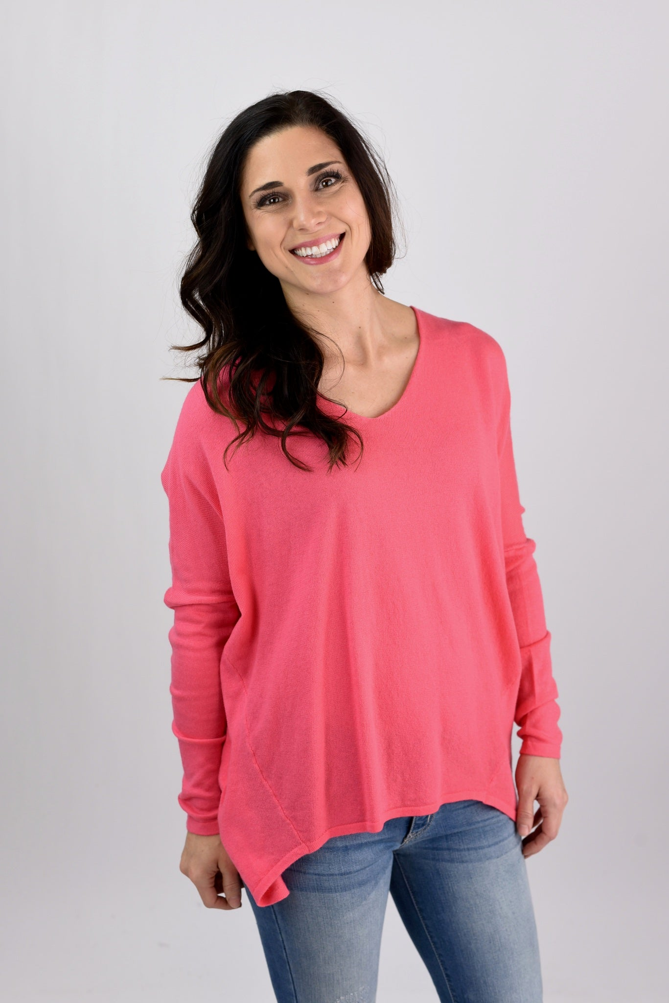 Time to Understand Dolman Sleeve Sweater - Pink