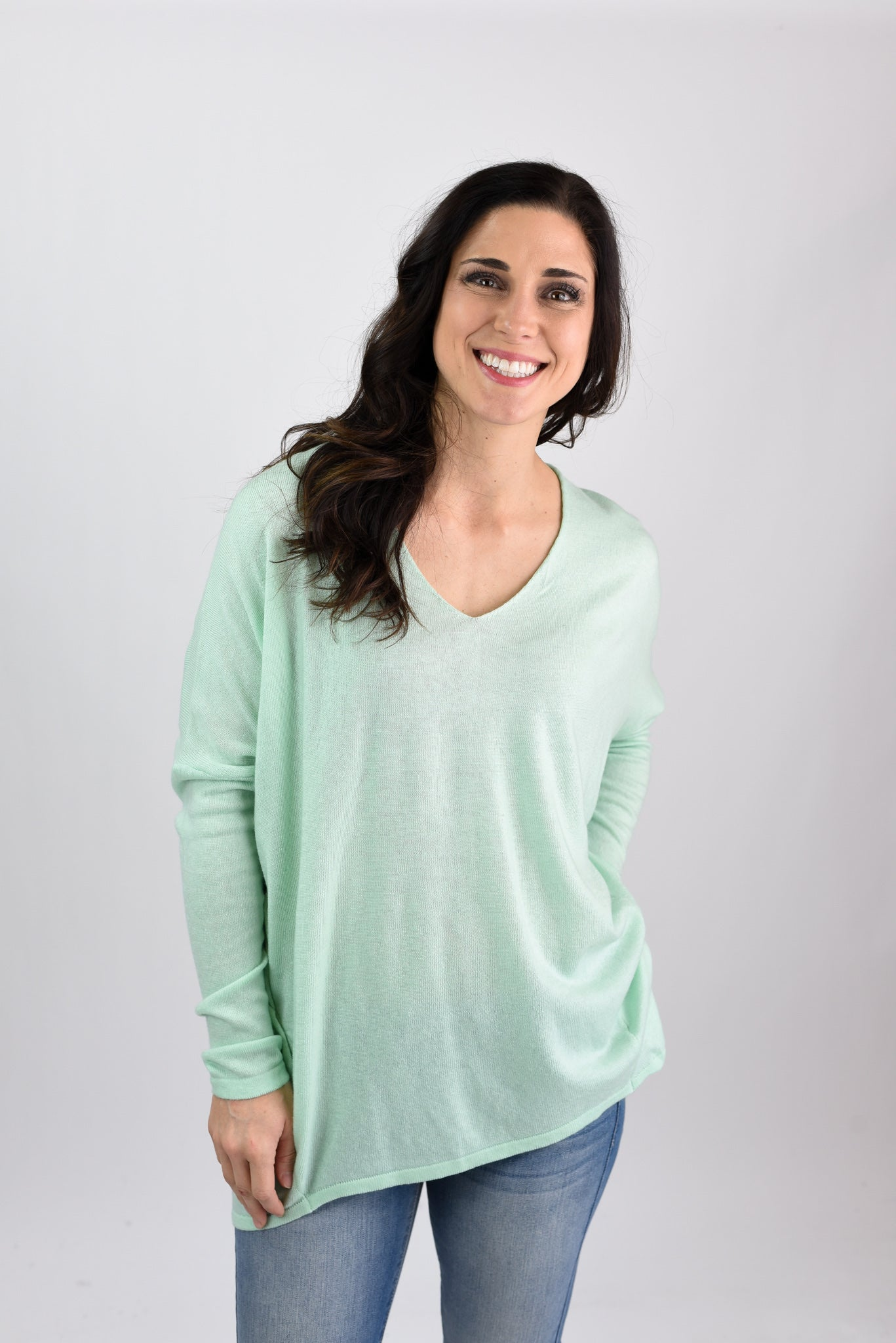 Time to Understand Dolman Sleeve Sweater - Mint