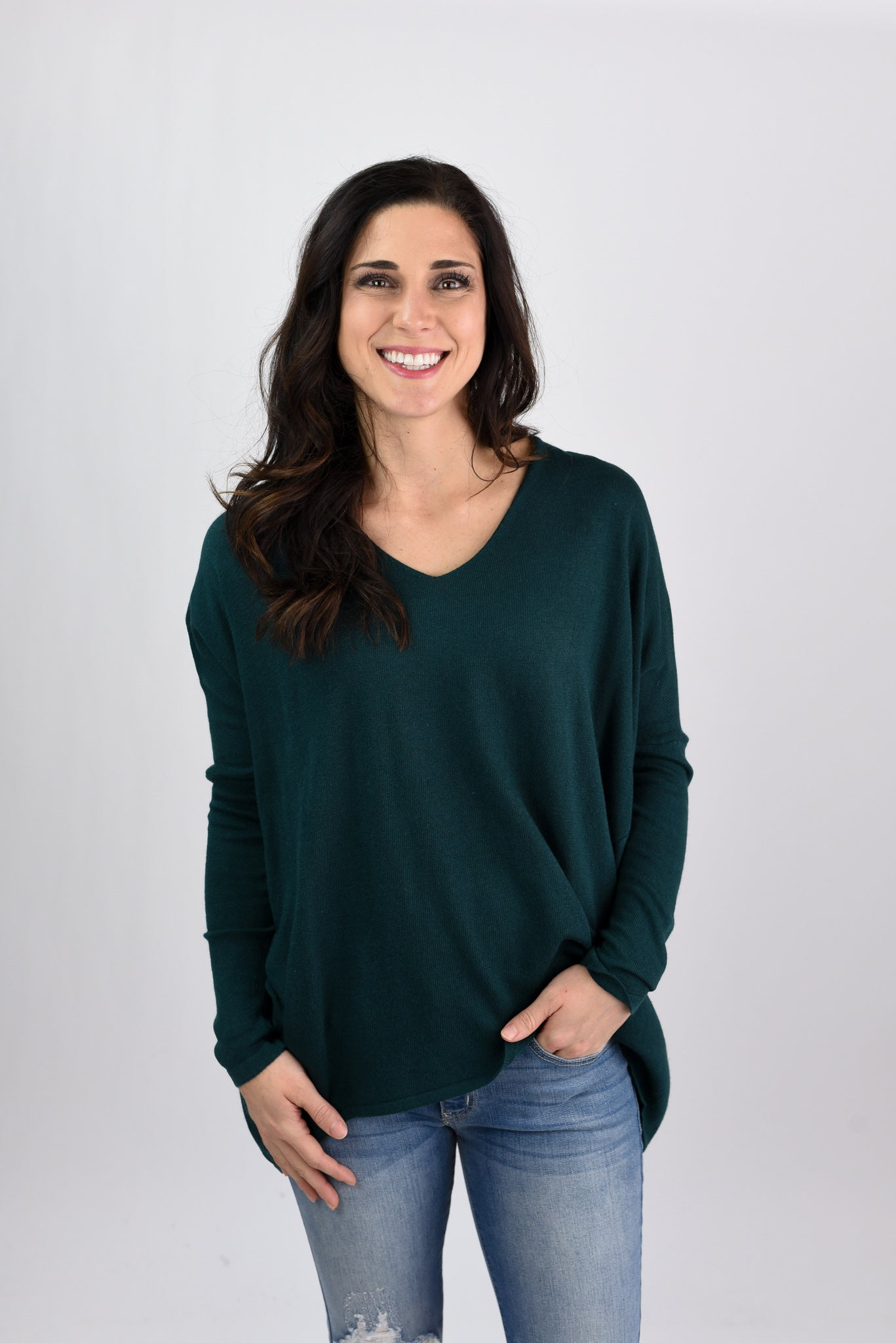 Time to Understand Dolman Sleeve Sweater - Dark Green