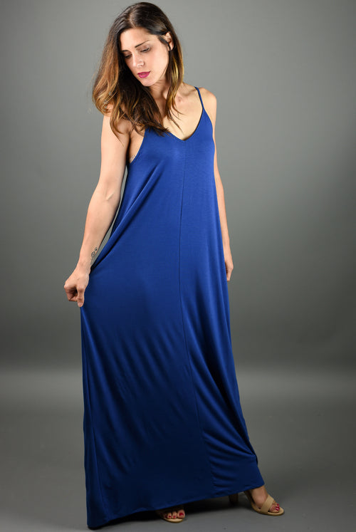 Hello Beautiful Cami Maxi Dress- Sapphire
