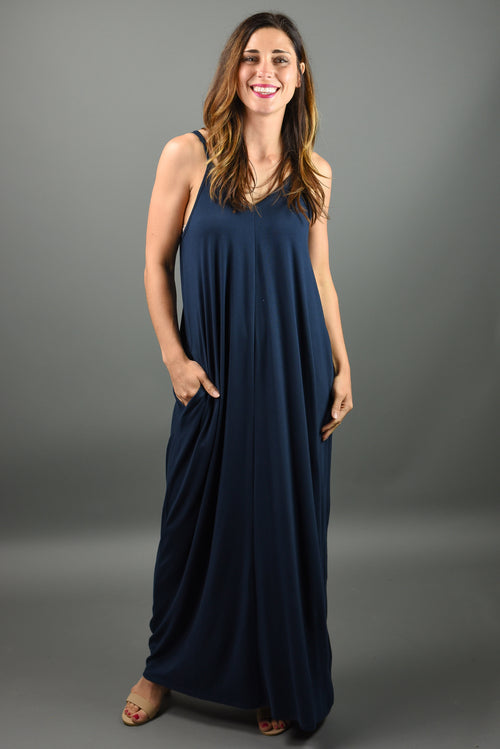Hello Beautiful Cami Maxi Dress- Midnight Navy