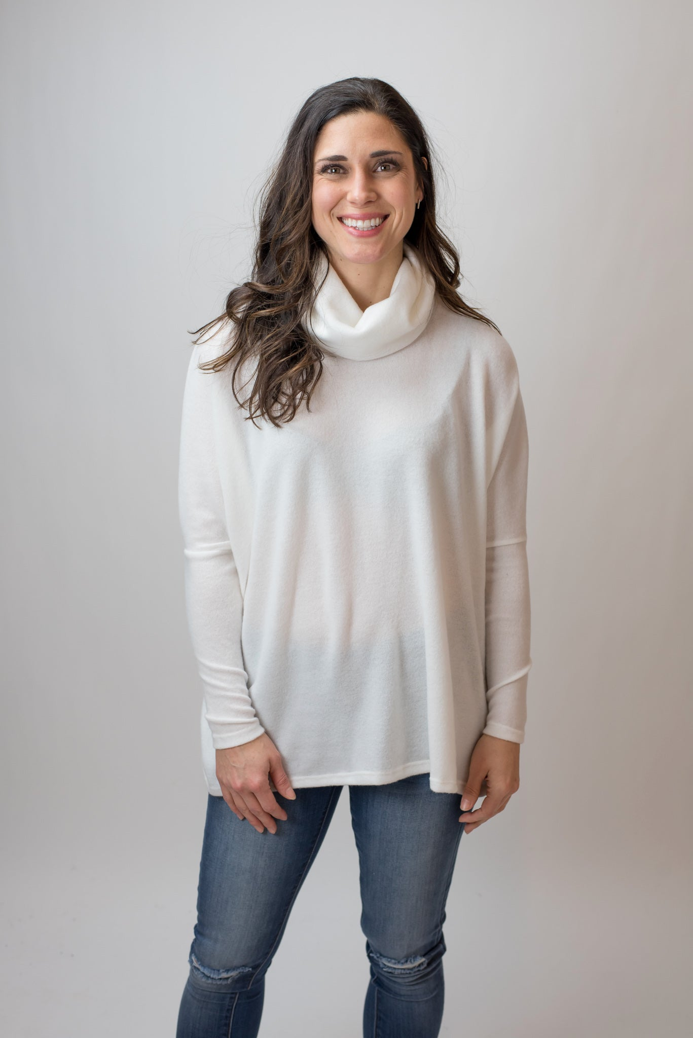 Snowy Days Long Sleeve Turtle Neck - Ivory