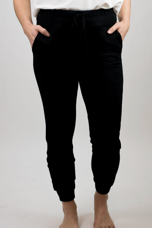 Holla At Me Super Soft Black Joggers