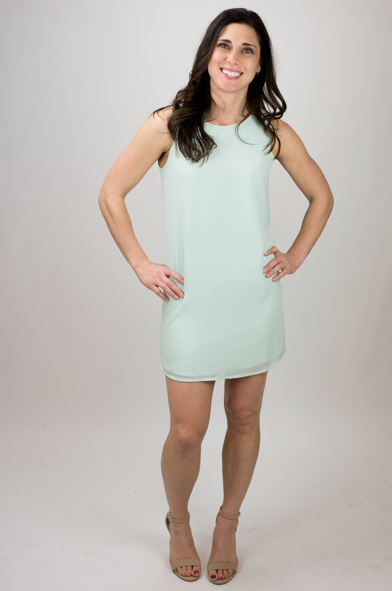 Northern Lights Fully Lined Tank Dress - Mint