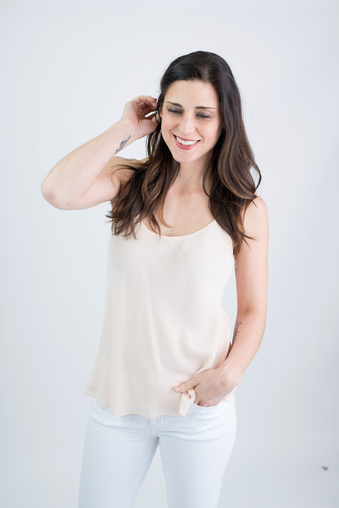 Our Melody Chiffon Tank - Blush