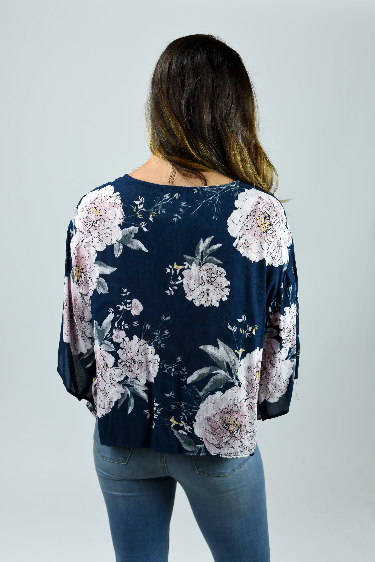 Got Me Distracted Floral Front Tie Top