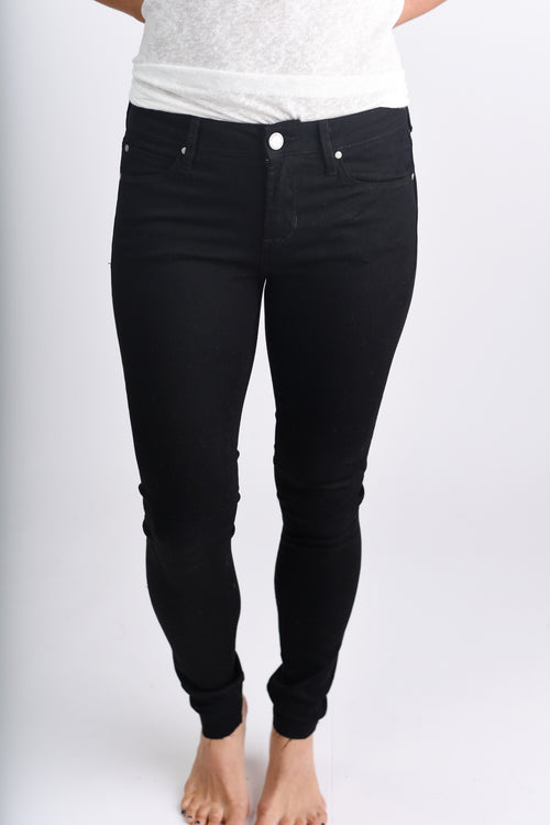 Join Me For Dessert Black Non Distressed Skinny Jeans