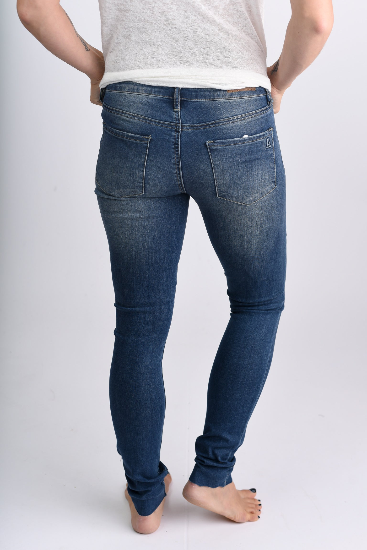My Only Exception Distressed Medium Wash Skinny Jeans