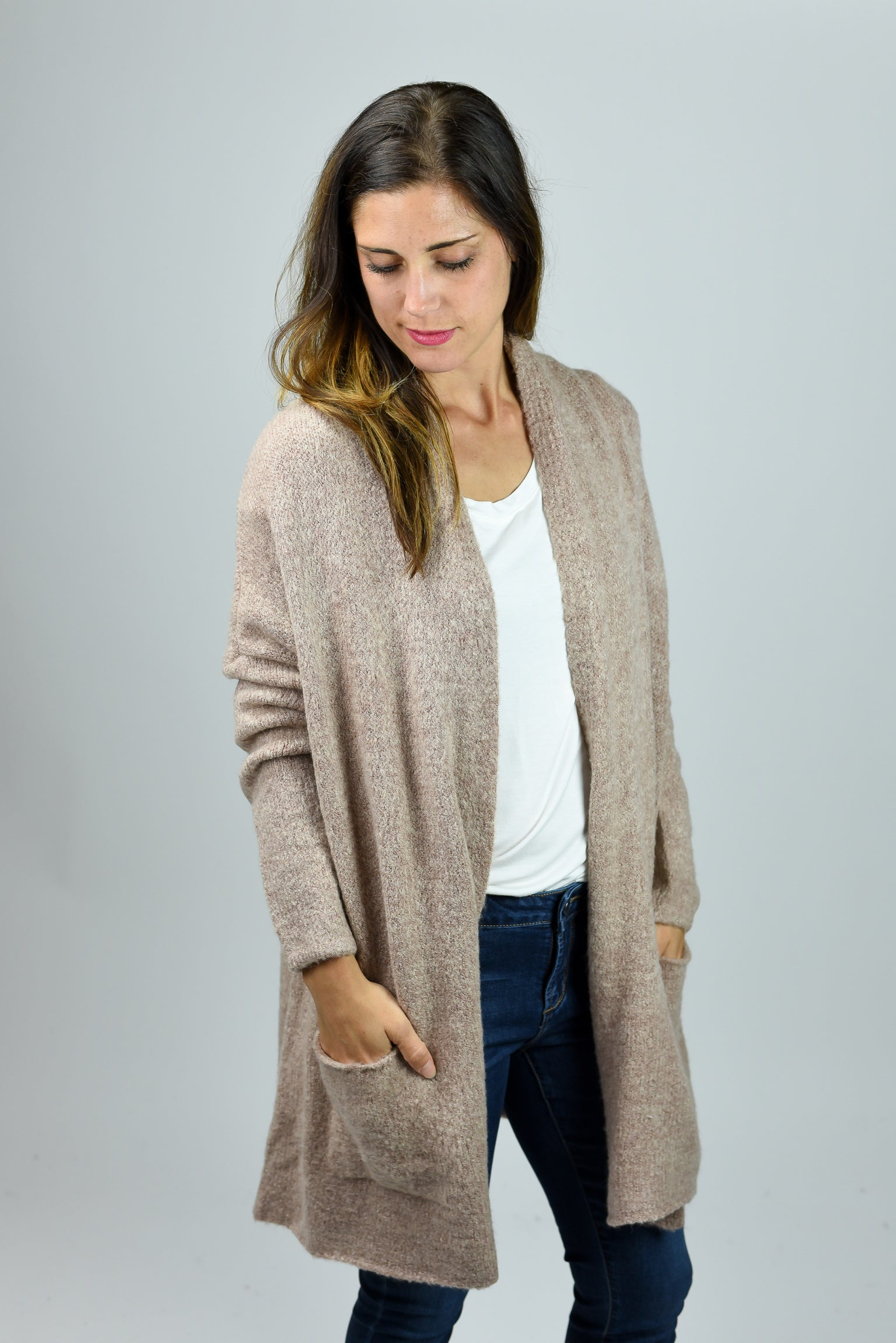 Miles Apart Super Soft Cardigan - Blush