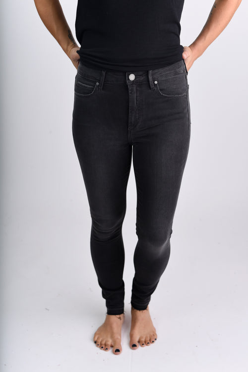 Dream On Ash Grey High Rise Skinny Jeans