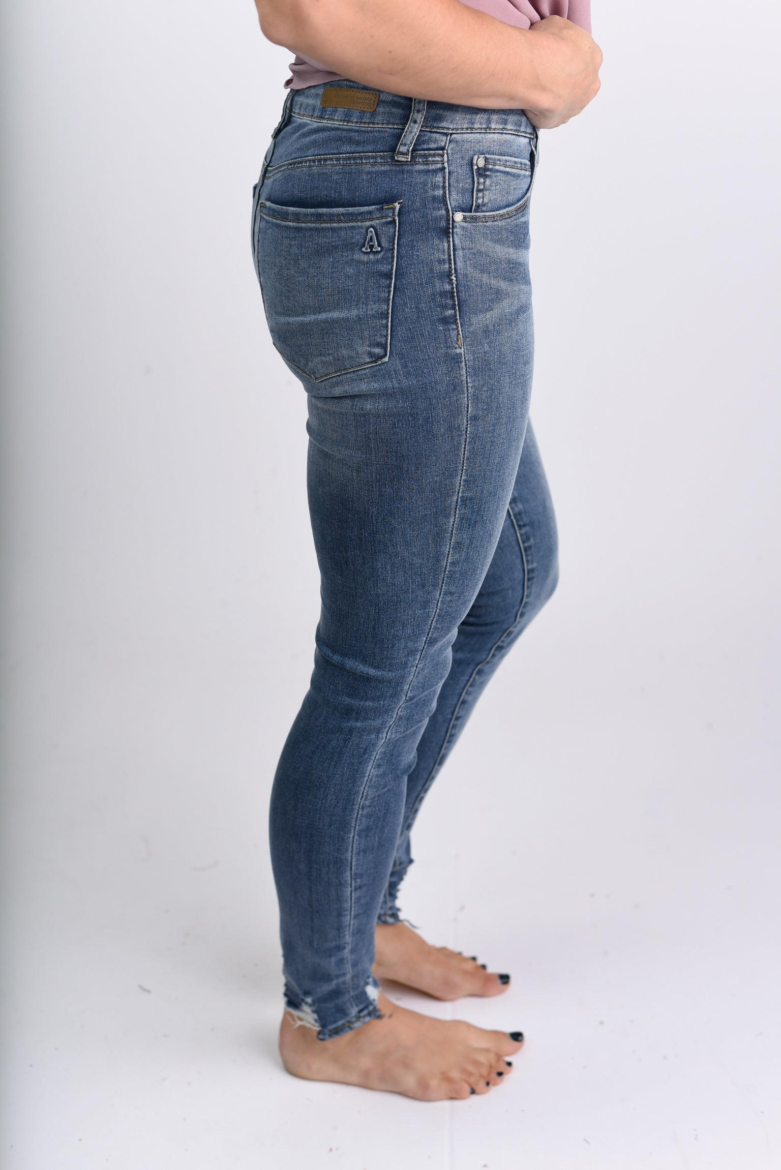 Eat Your Heart Out High Rise Distressed Ankle Skinny Jeans