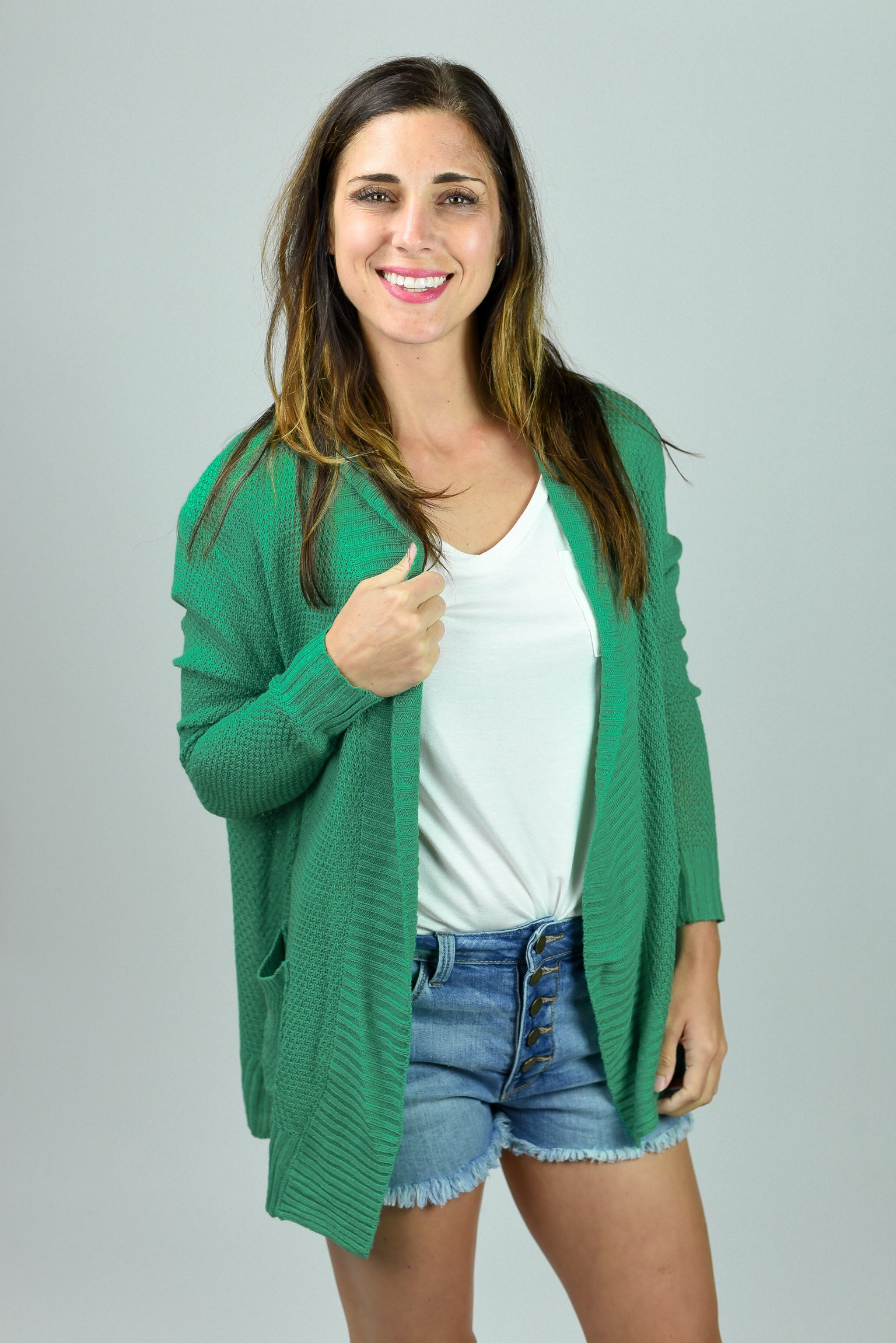 My Everyday Cardigan - Kelly Green