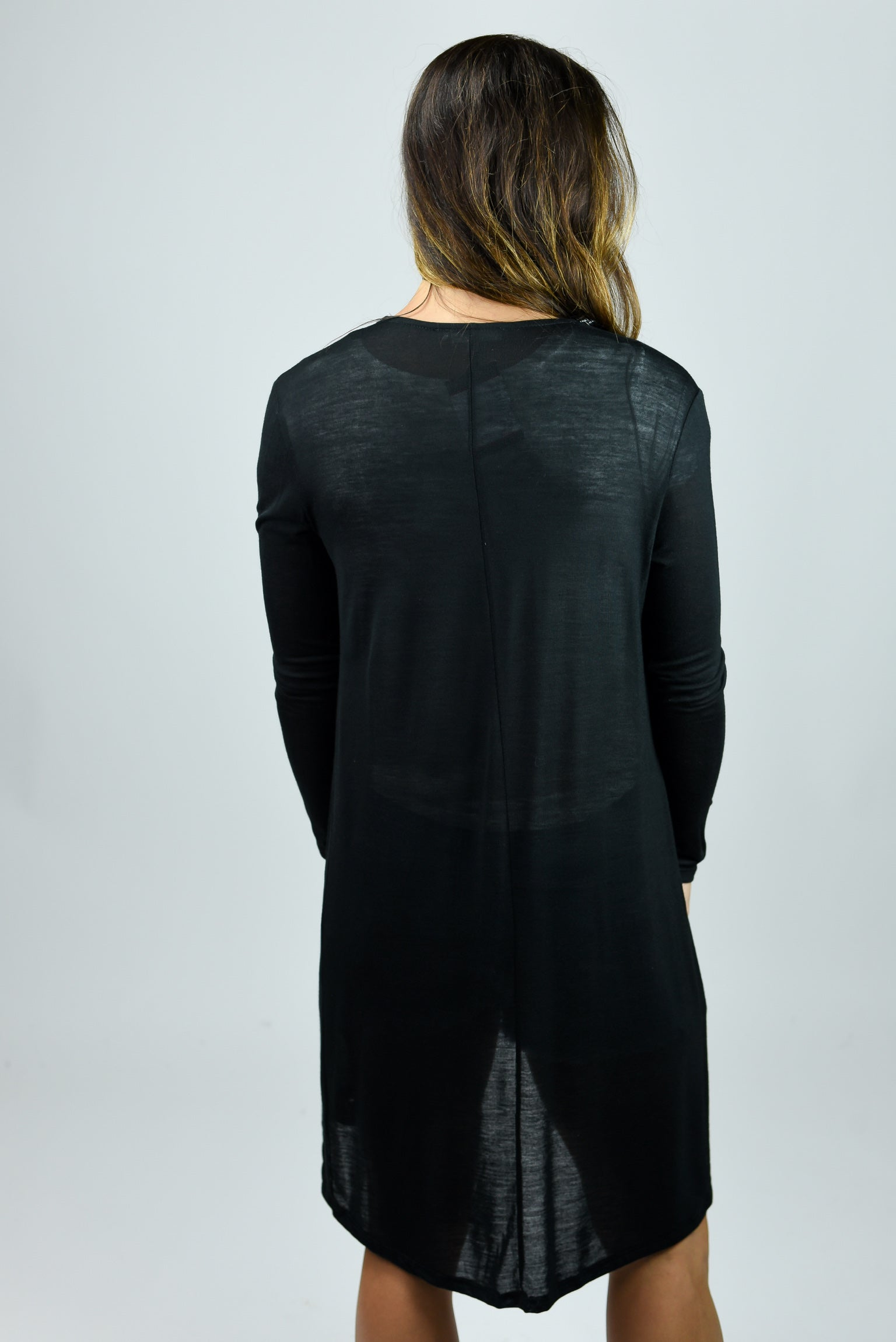 Nothing Better Light Weight Cardi- Black