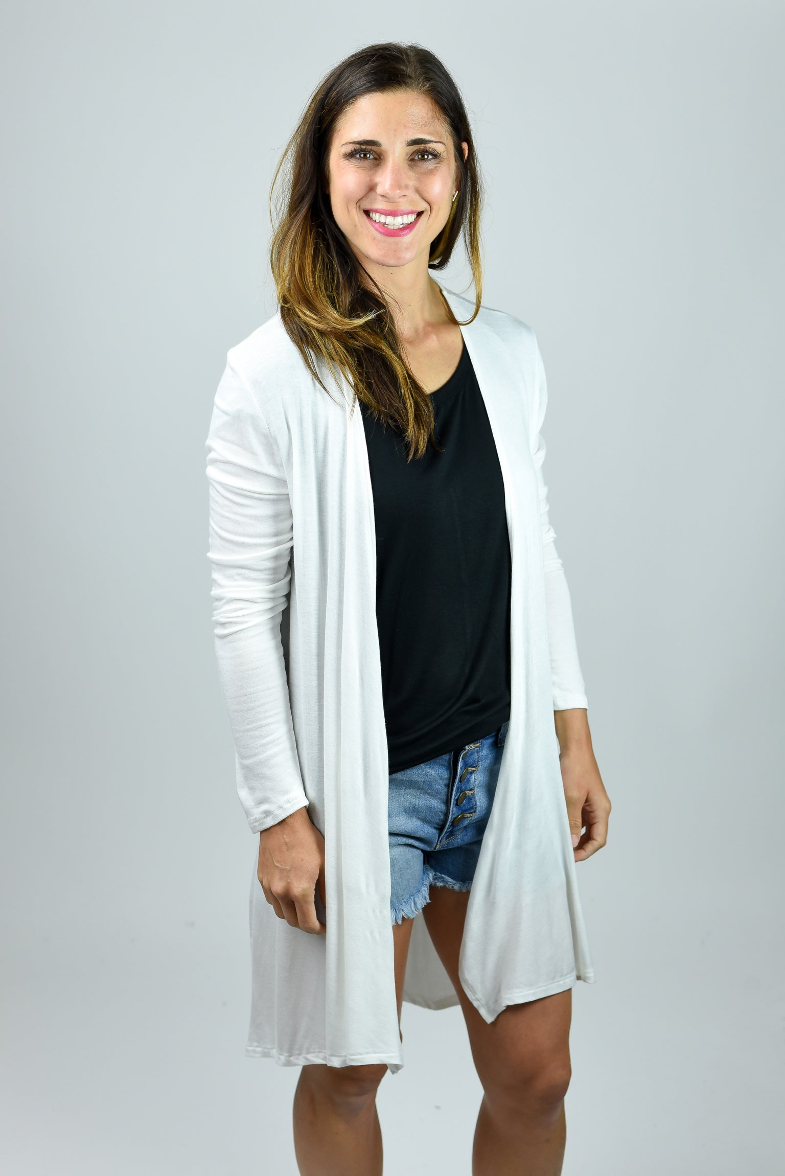 Nothing Better Light Weight Cardi- White