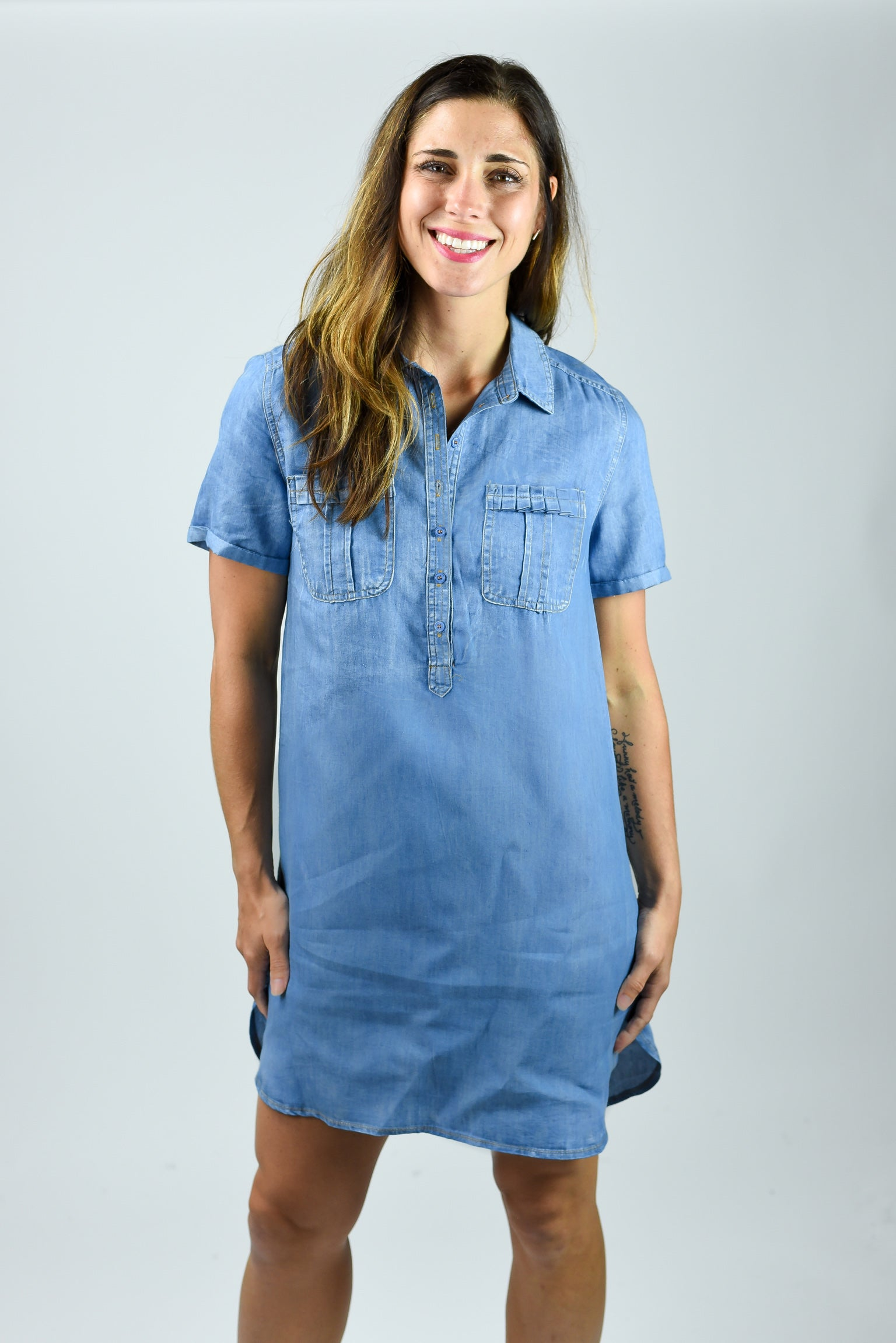 In My Corner Denim Dress